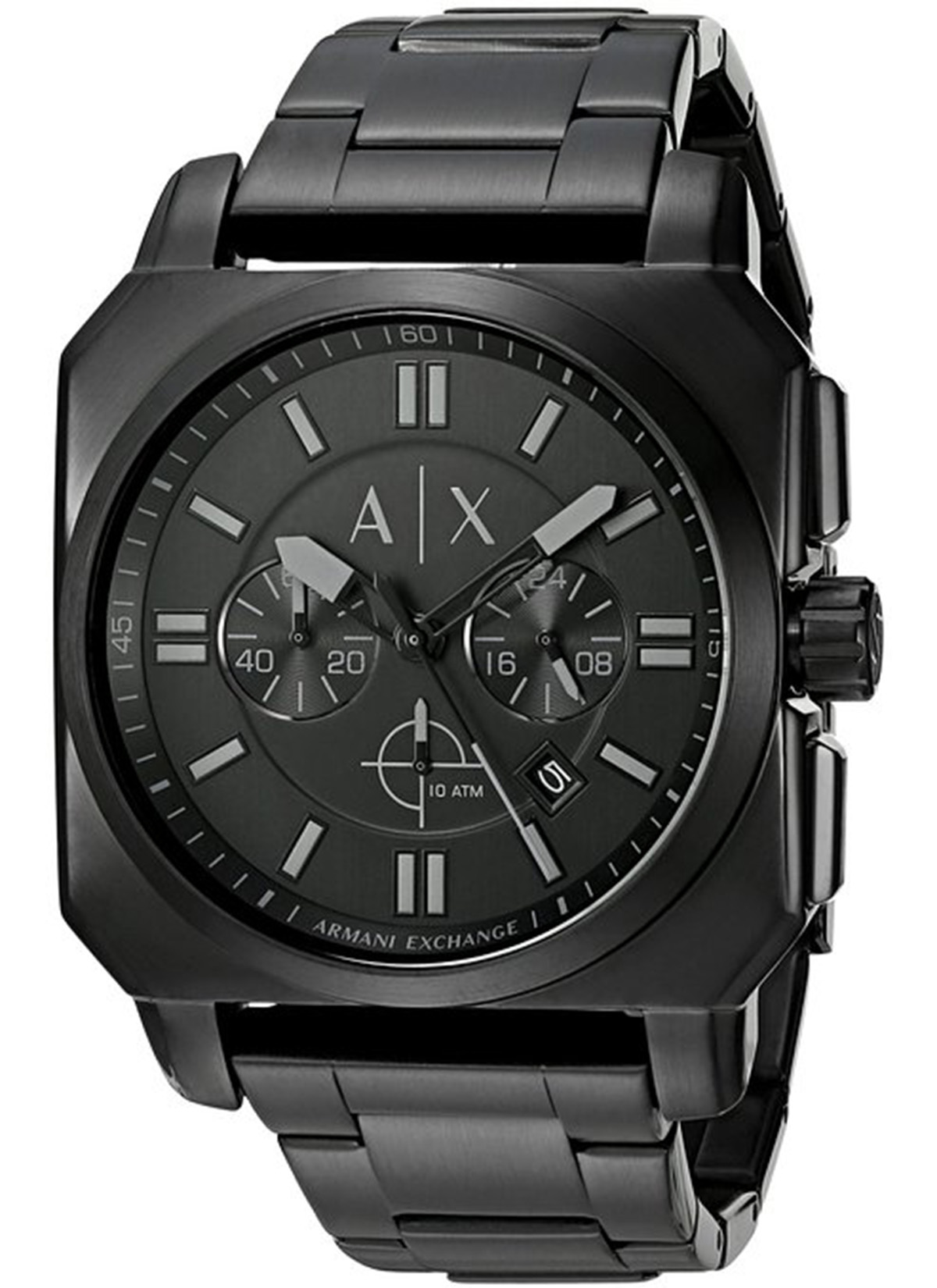 1a2139f4180 Details about NEW Armani Exchange AX1651 Men s Takedown Black Stainless  Steel Watch
