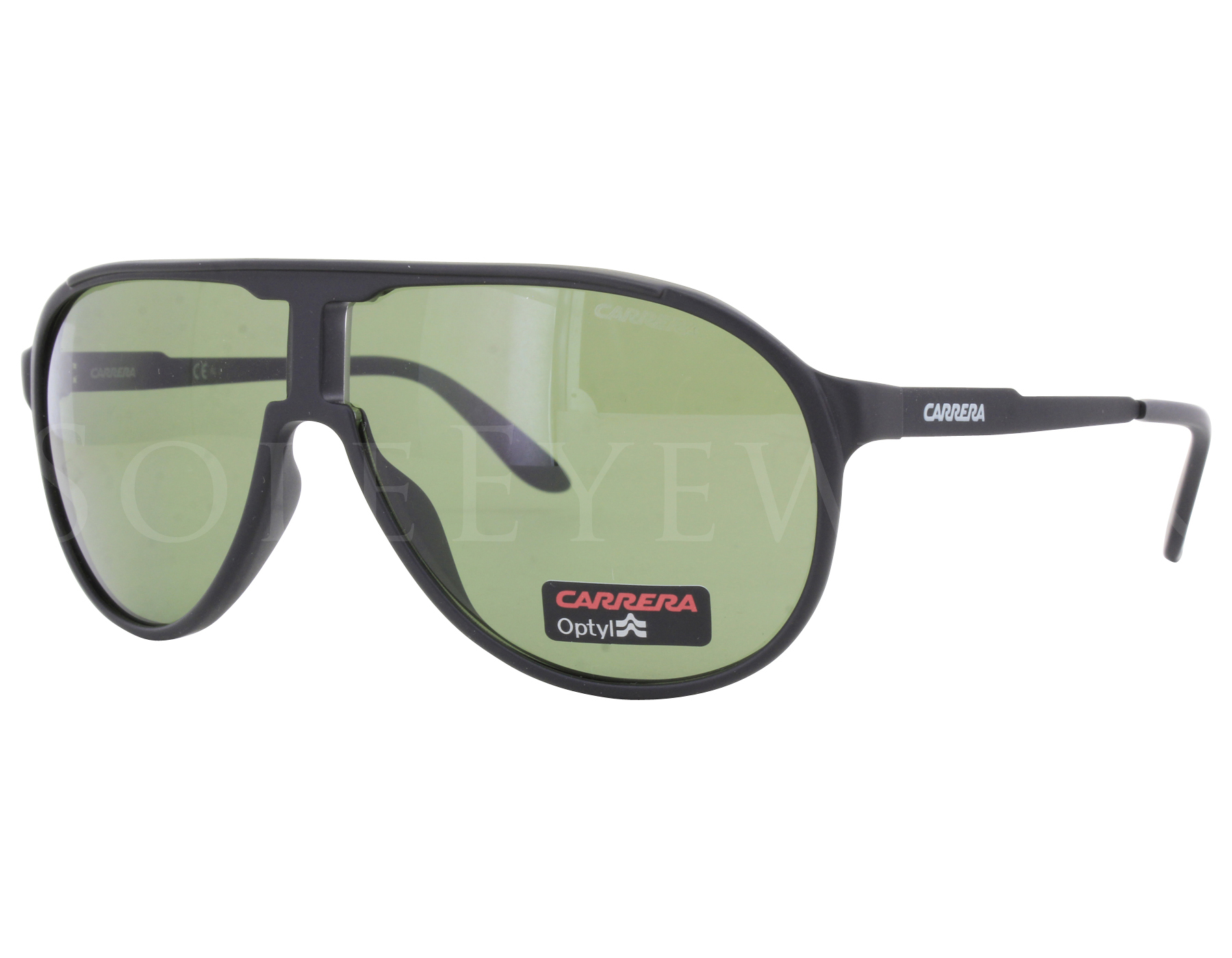 ae8d78c338 Details about NEW Carrera CHAMPION GUYDJ 62mm Matte Black / Green Sunglasses