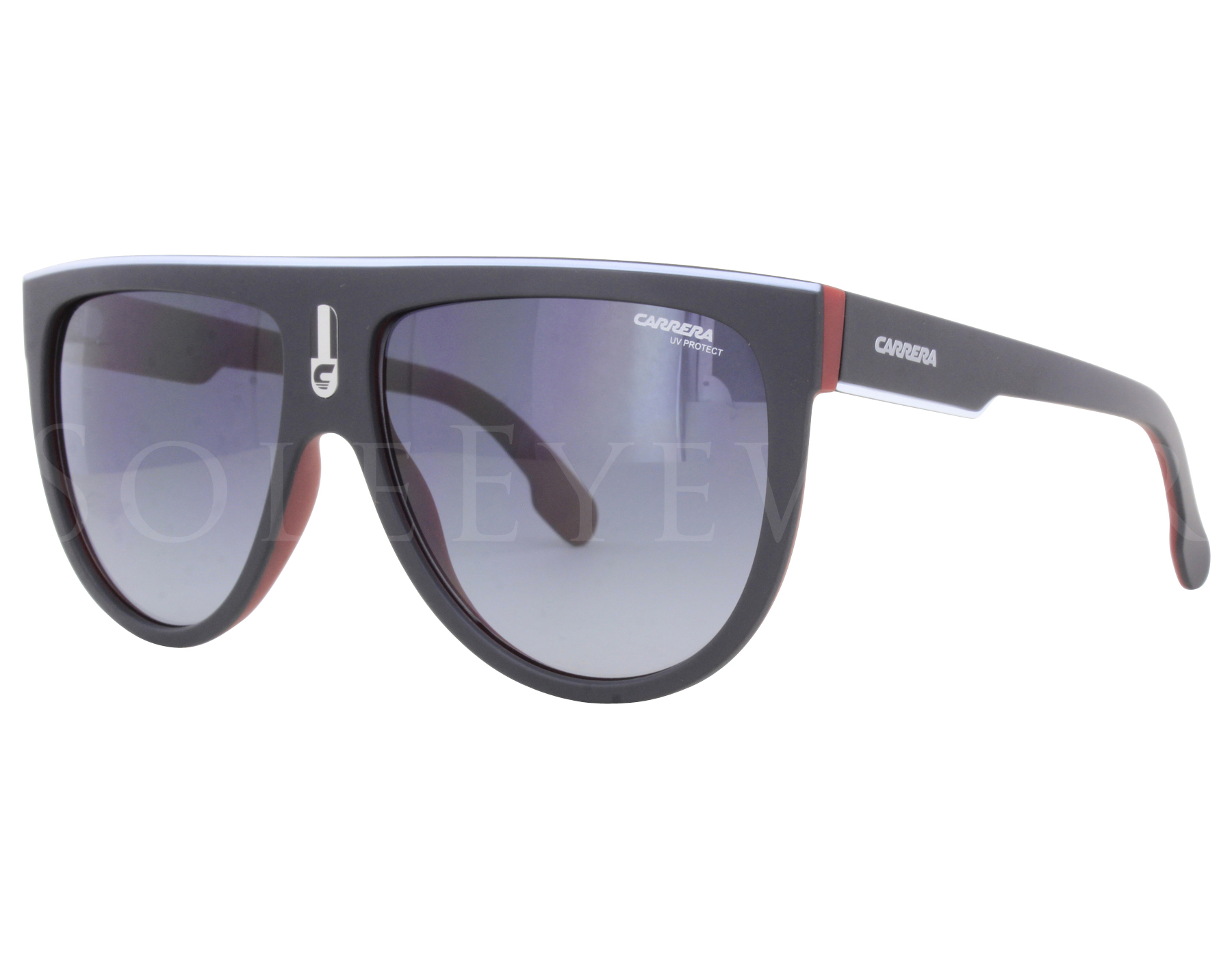 707fdcfbda Details about NEW Carrera FLAGTOP BLX9O Black Crystal Red   Dark Grey  Gradient Sunglasses