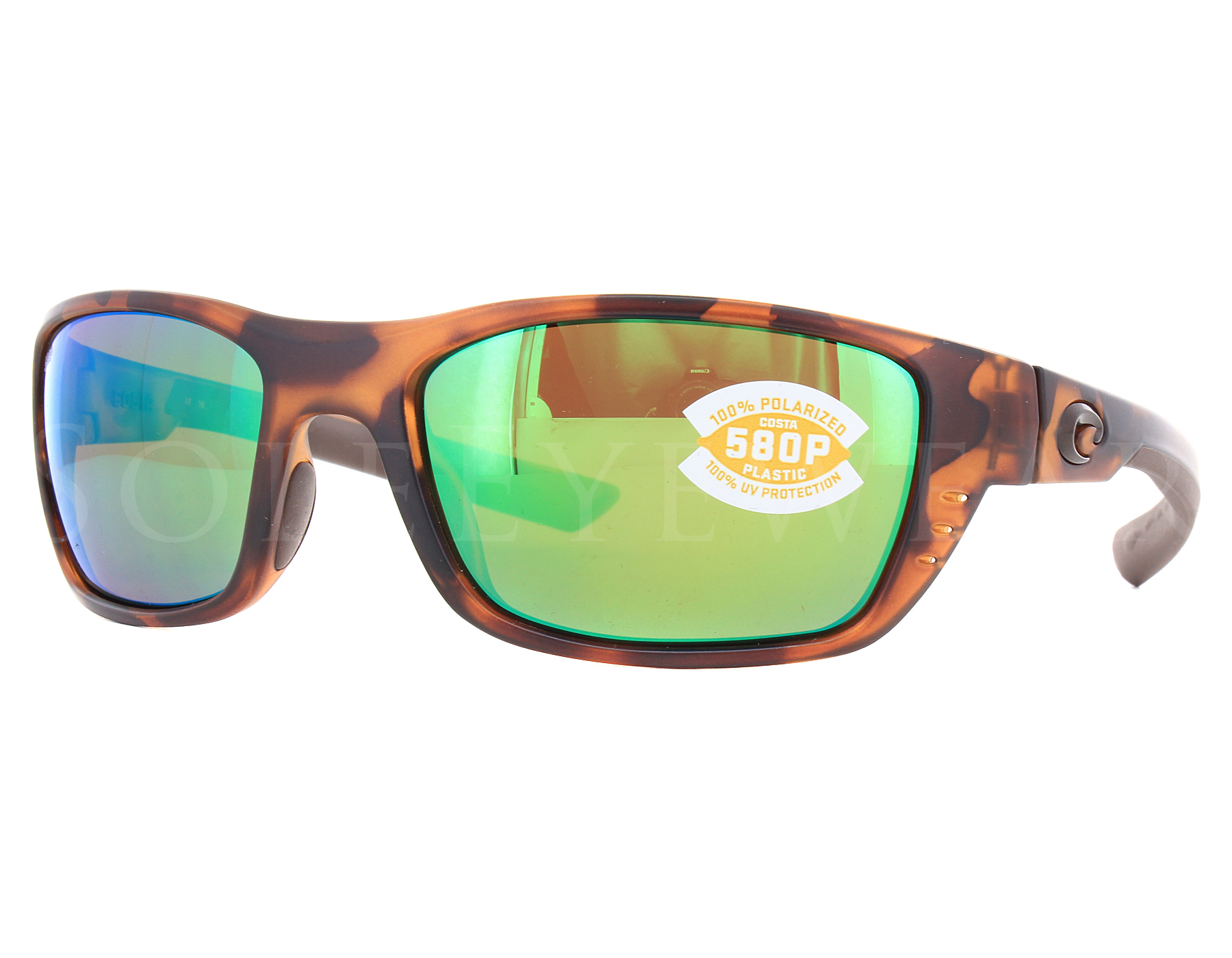 adce0c3d4b Details about NEW Costa Del Mar Whitetip Matte Retro Tortoise Green  WTP66-OGMP580P Sunglasses