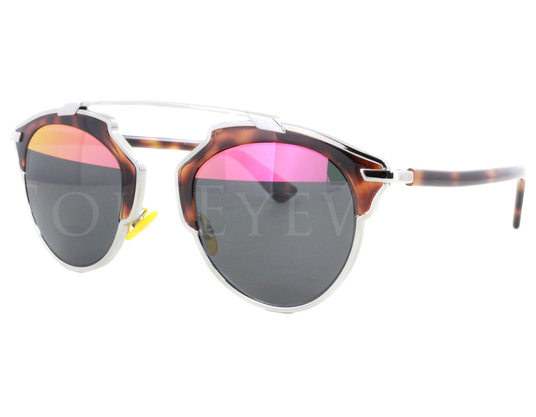 9a4a978b903 Details about NEW Christian Dior So Real AOOTT Havana Tortoise   Grey Pink  Mirror Sunglasses