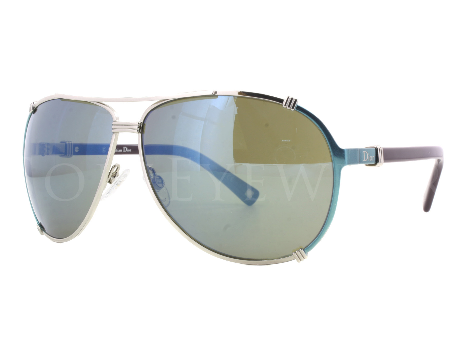 aaa8f6e254d1 Details about NEW Christian Dior Chicago 2 1QW3U 1QW 3U Turquoise Plum  Khaki Sunglasses