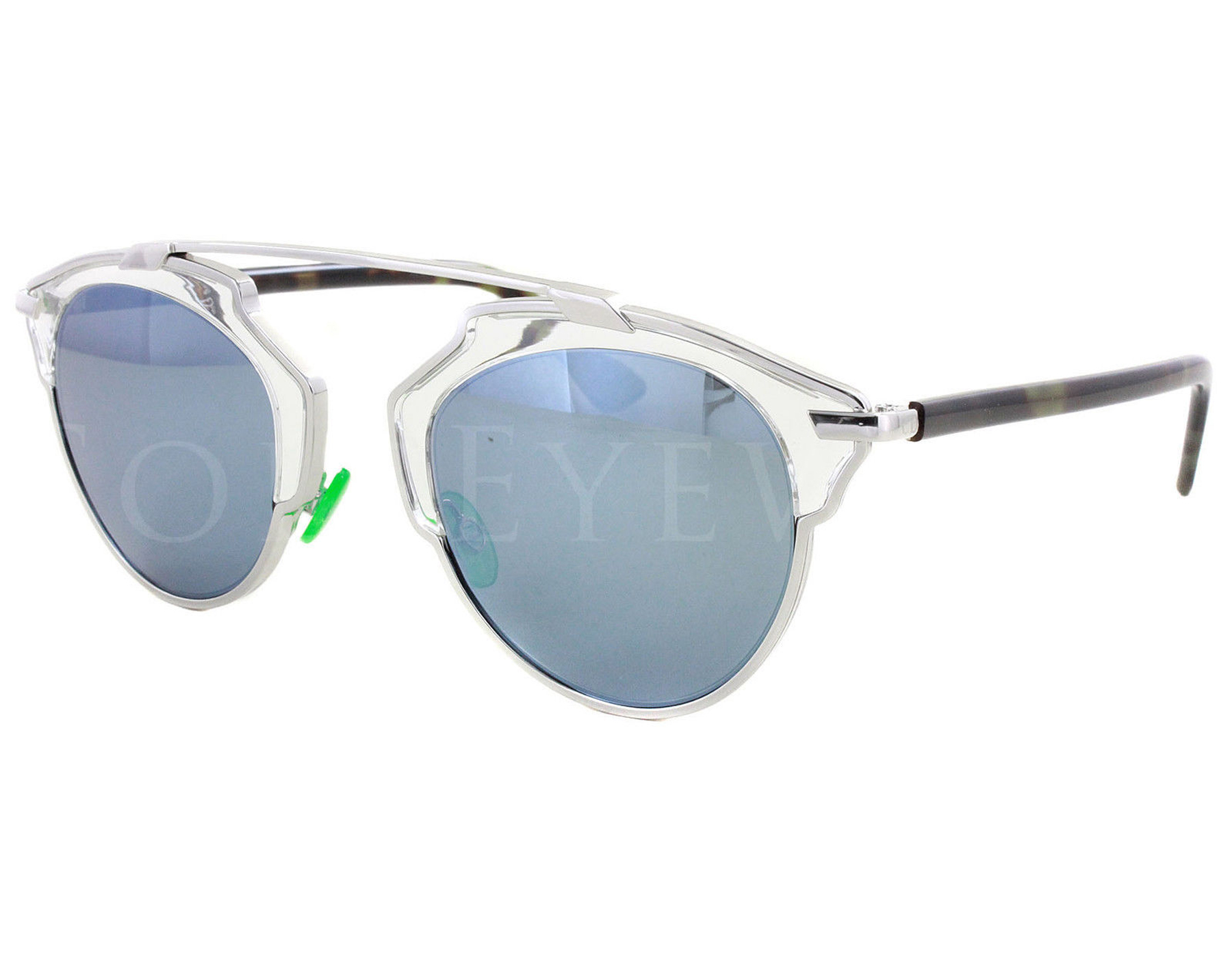 fff7c8bd0f Details about NEW Christian Dior So Real NSYT7 Palladium Havana   Turquoise Mirror  Sunglasses