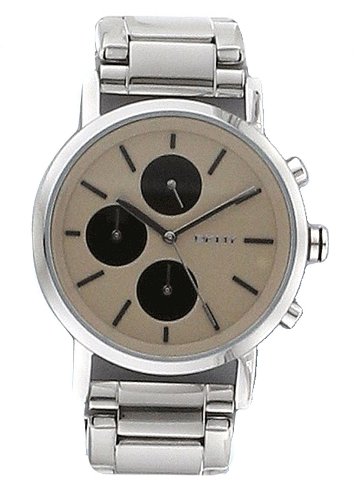 9243dd440bb NEW DKNY NY2156 Women s Silver Chronograph Stainless Steel Watch ...