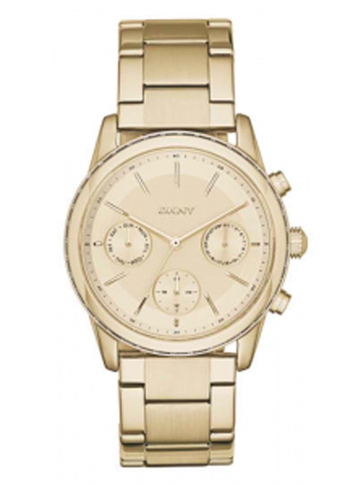 13950cfc6a9 Details about NEW DKNY NY2330 Rockaway Women s Gold Stainless Steel Watch