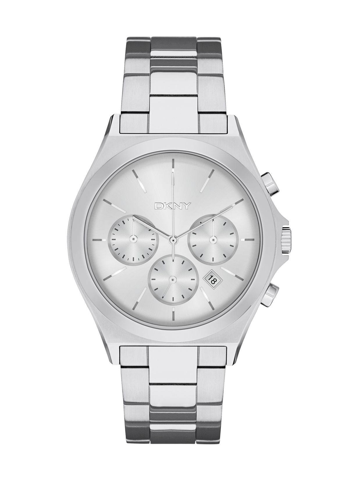 dc34bca0ce5 Details about NEW DKNY NY2378 Parsons Silver Stainless Steel Women s Watch