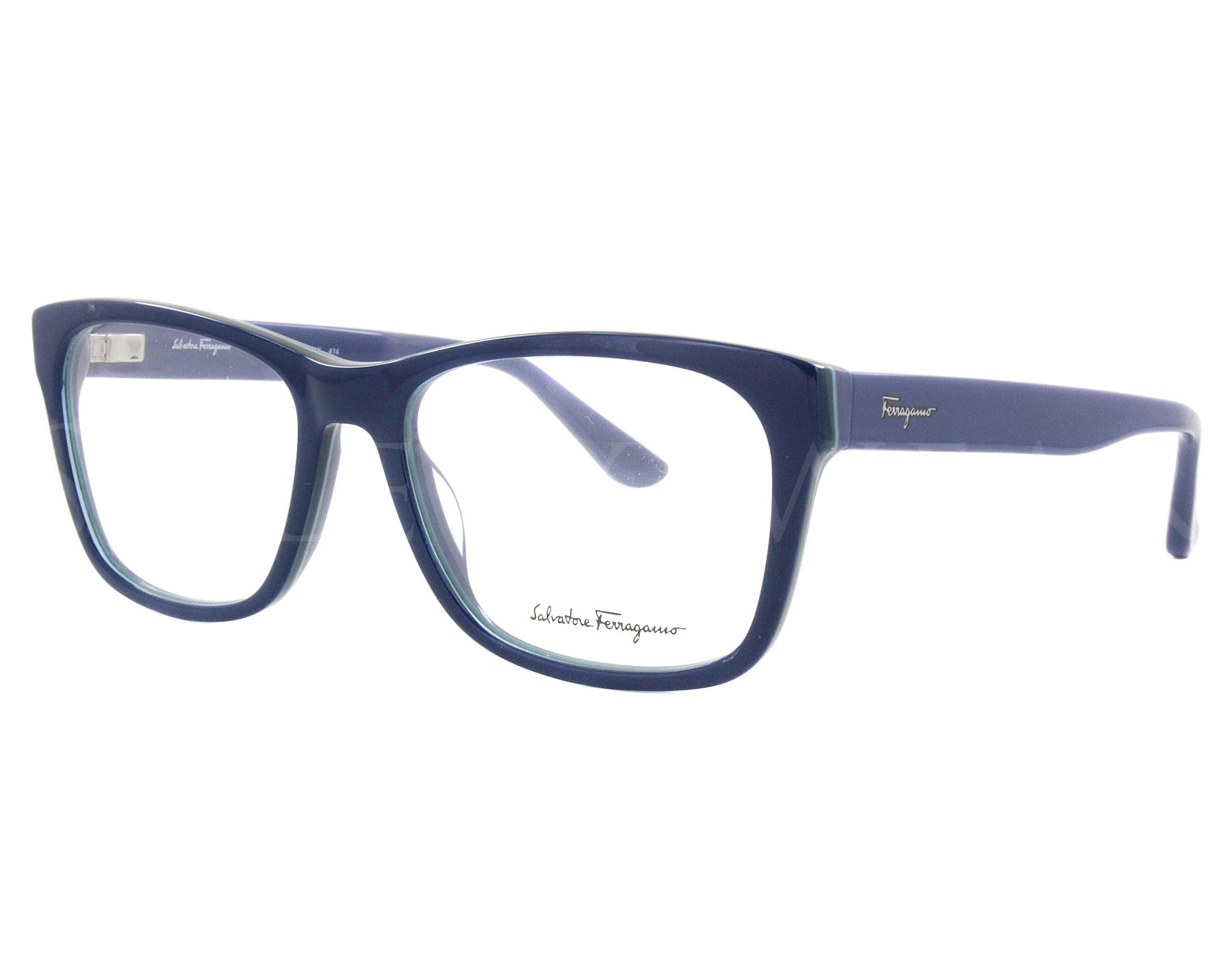 7f04bd7387 Details about NEW Salvatore Ferragamo SF2693 412 55mm Blue Navy Optical  Eyeglasses Frames