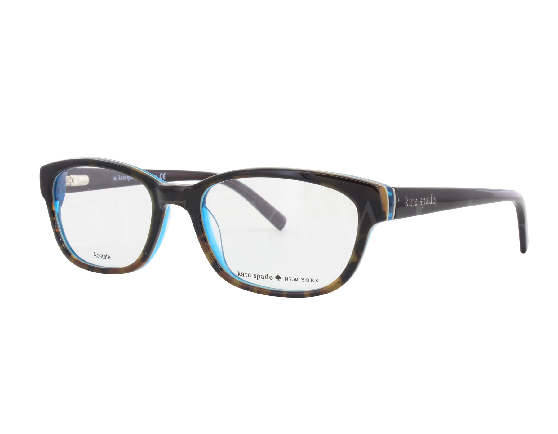 aacc39749864 Details about NEW Kate Spade BLAKELY 0JLM 50mm Tortoise Turquoise Eyeglasses