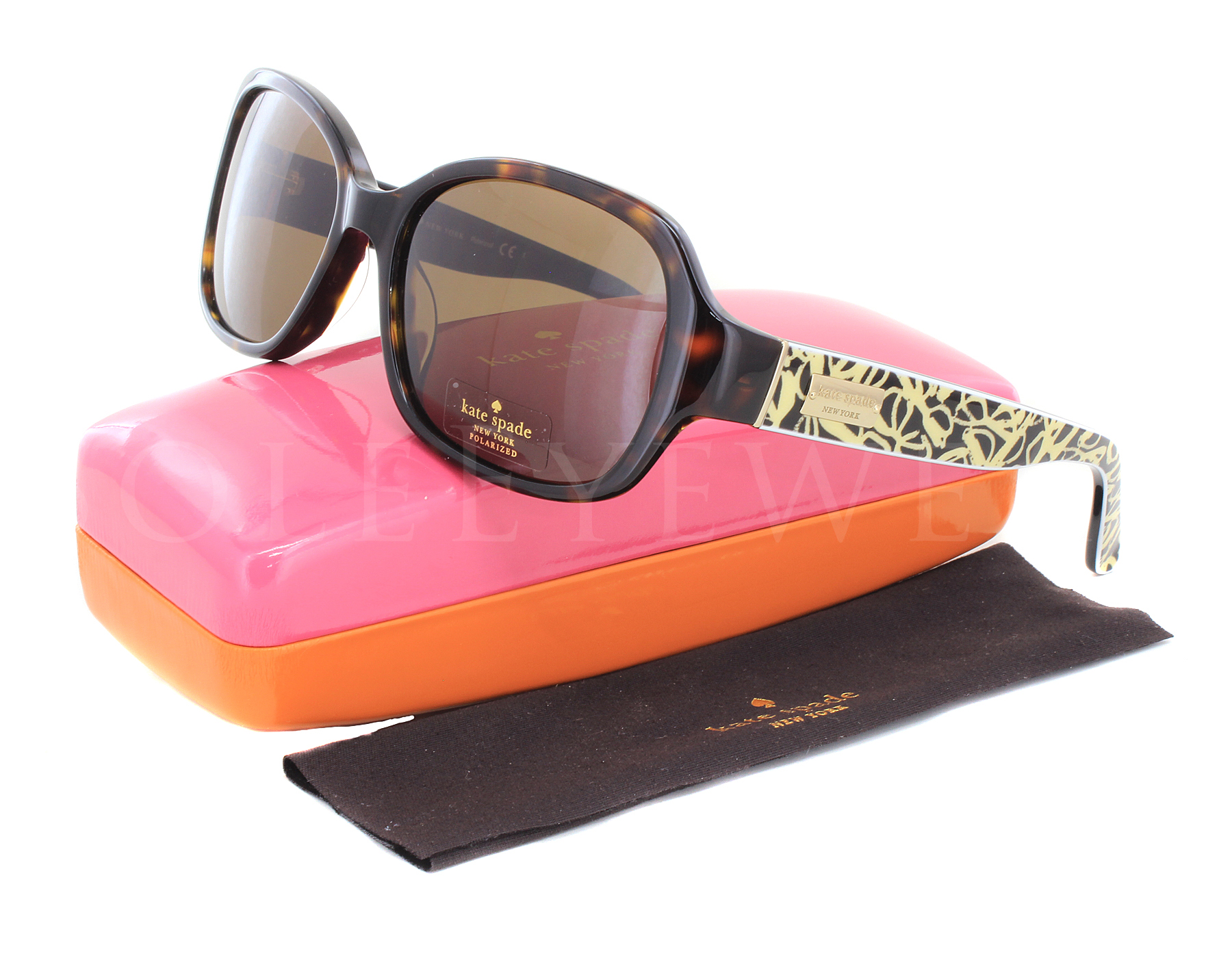 85559c2c3e4 Details about NEW Kate Spade AKIRA P S 86PVW Tortoise   Brown Gradient  Polarized Sunglasses