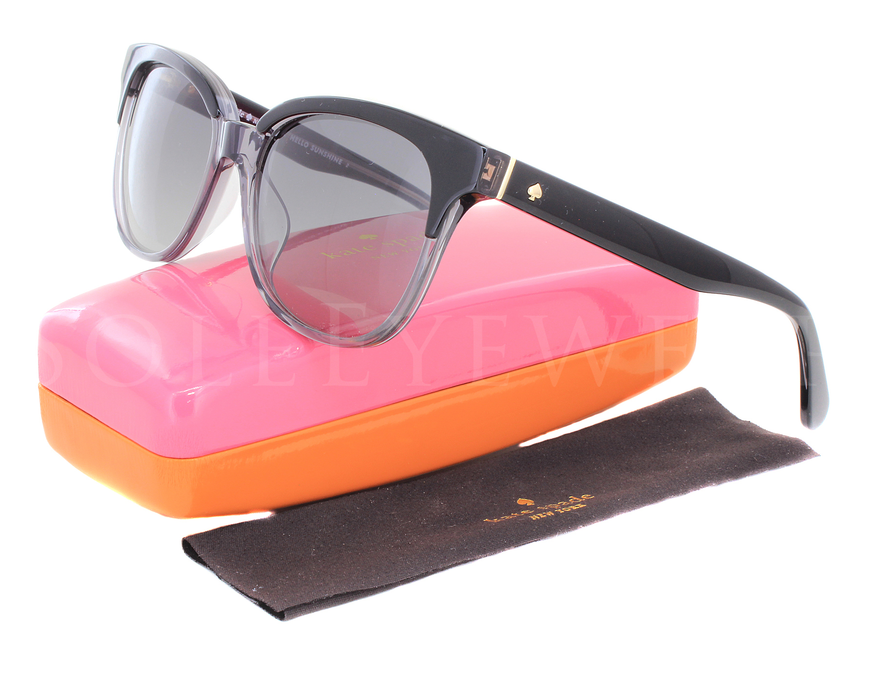 7ed6a5b572 Details about NEW Kate Spade ARLYNN S-008A9O Black Grey   Grey Gradient  Sunglasses