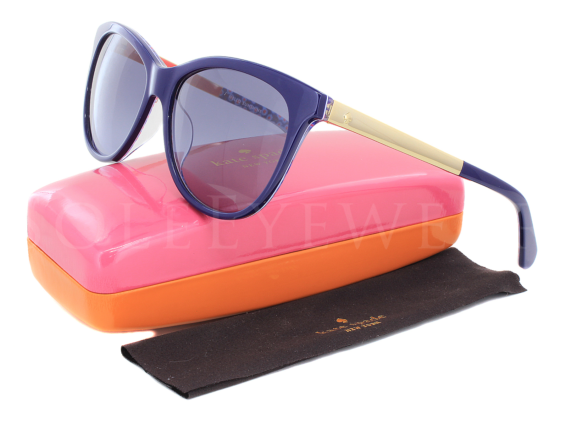 25773295a0 Details about NEW Kate Spade JIZELLE S-0GF5GB Blue Pattern   Blue Gradient  Sunglasses