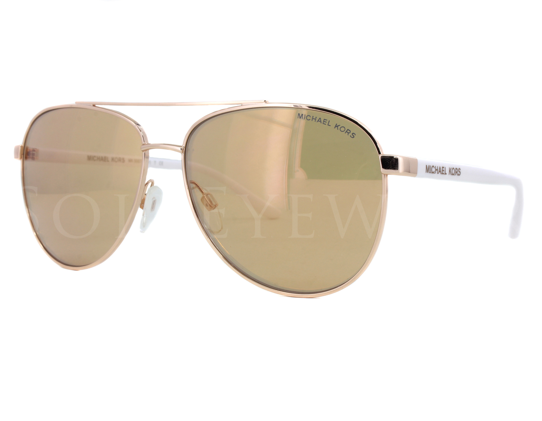 cacf27c011 Details about NEW Michael Kors MK5007 1080R1 59 Rose Gold   Rose Gold Flash  Sunglasses
