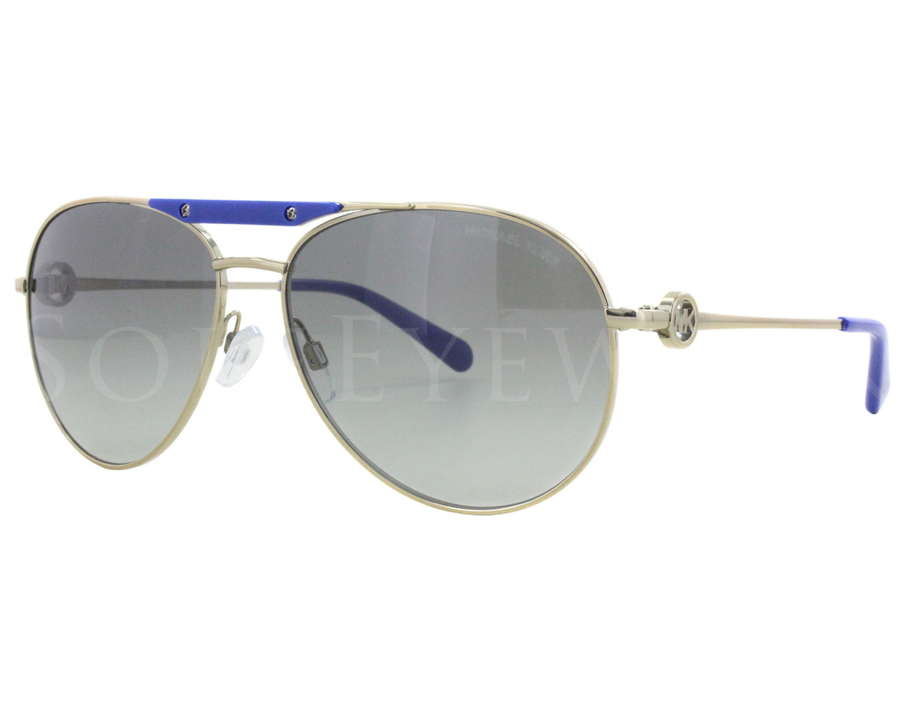 94d748703382e Details about NEW Michael Kors Zanzibar MK 5001 100411 MK Gold   Smoke  Gradient Sunglasses