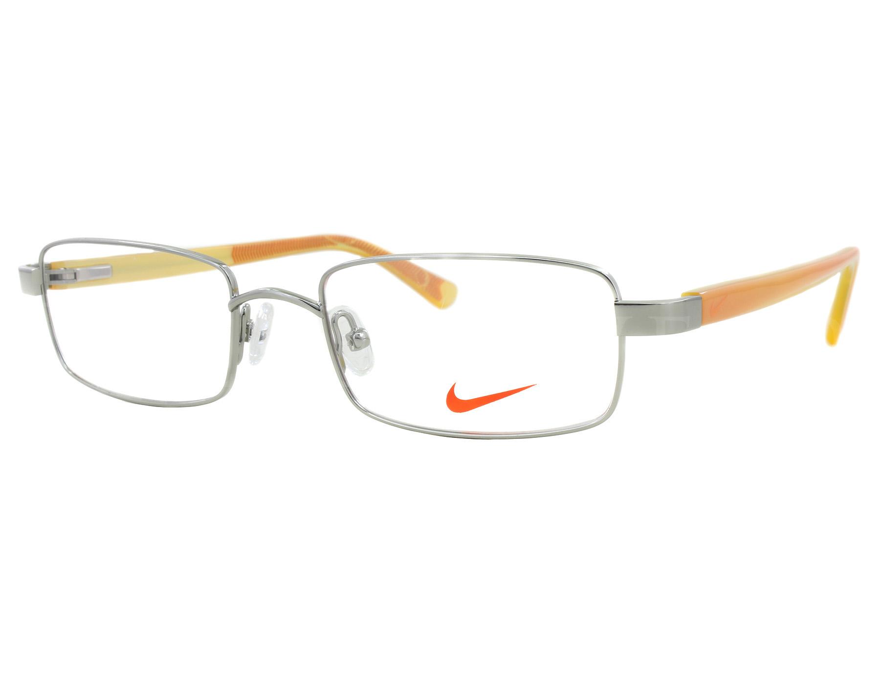 e660d3ec27e6 Details about NEW Nike NK 5550 045 49mm Steel Orange Optical Eyeglasses  Frames
