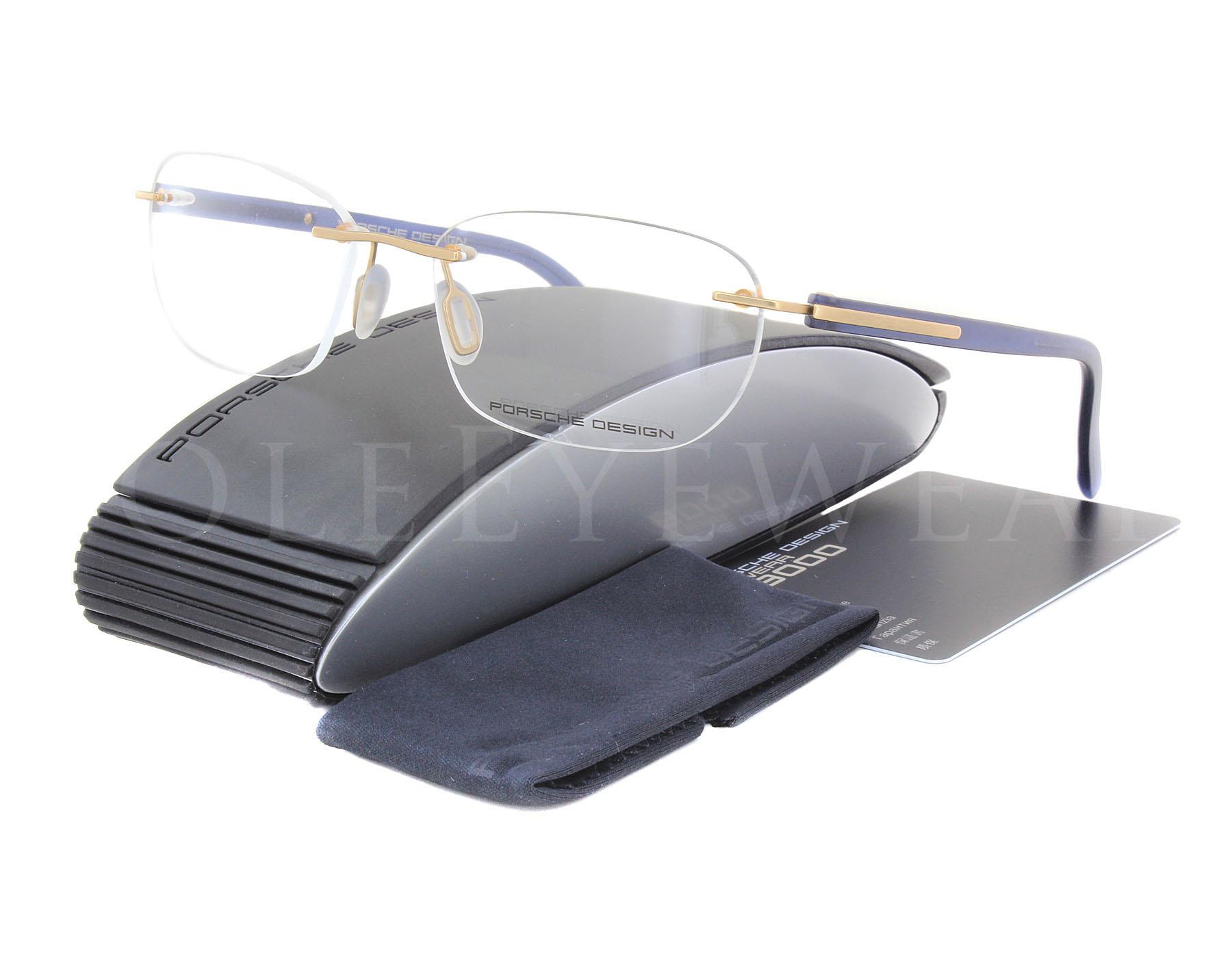 498c2ef8f42f Details about NEW Porsche Design P8245 B 54mm Gold Blue Optical Eyeglasses  Frames