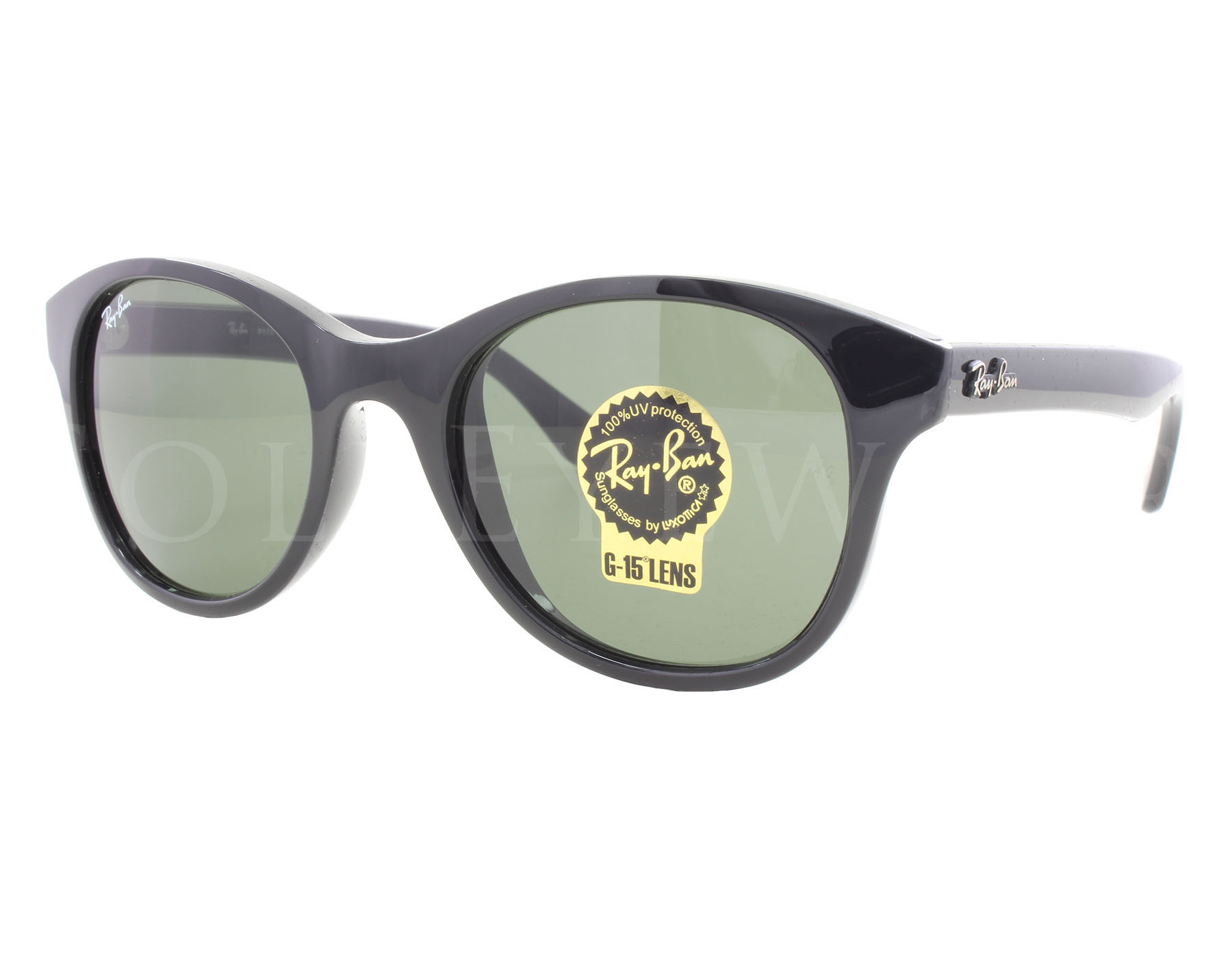 782ed02760 Details about NEW Ray Ban 4203 601 51mm Black Green Classic G-15 Sunglasses