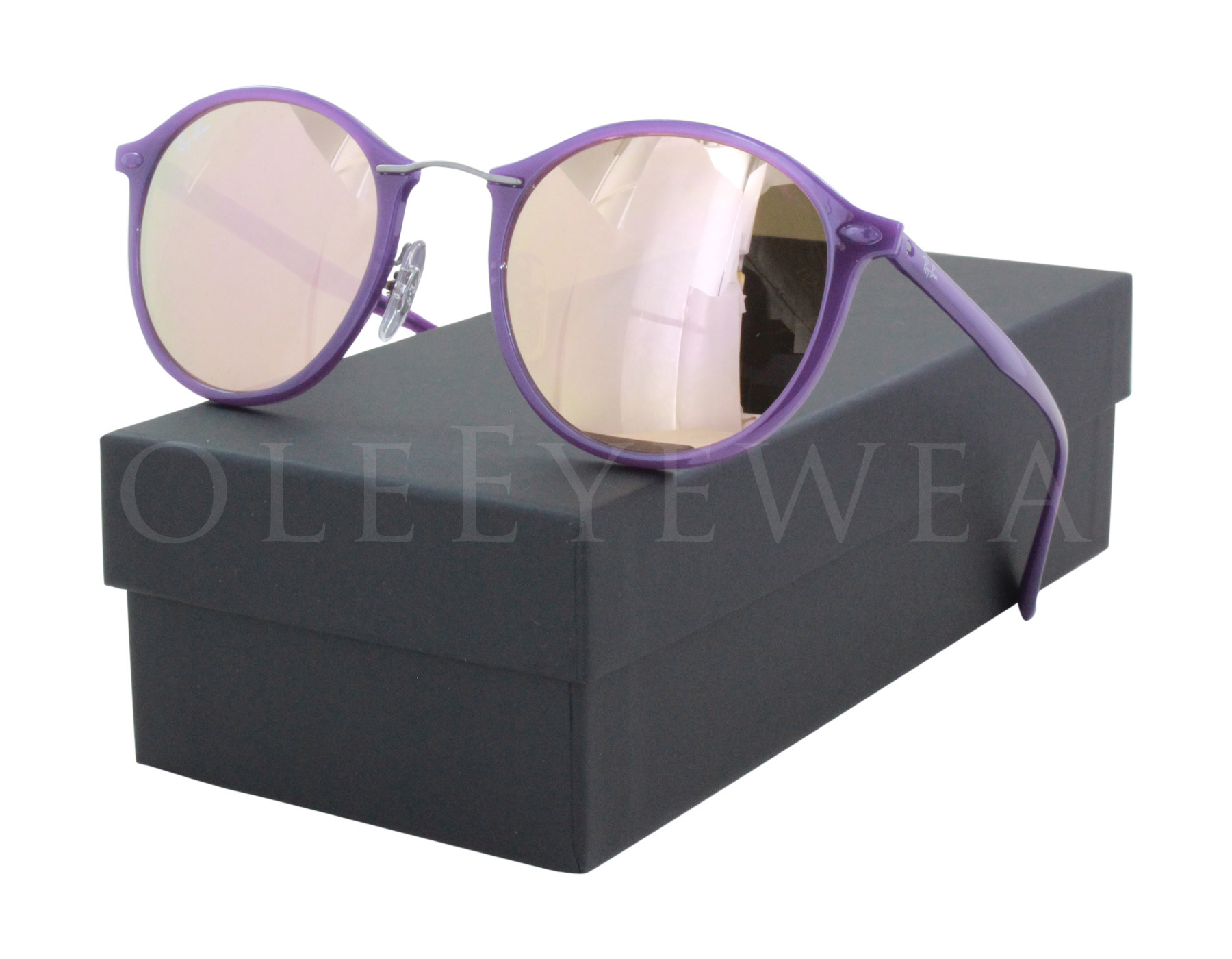 8ddf2146b4e6f Details about NEW Ray Ban RB 4242 6034 2Y 49mm Violet   Copper Mirror  Sunglasses