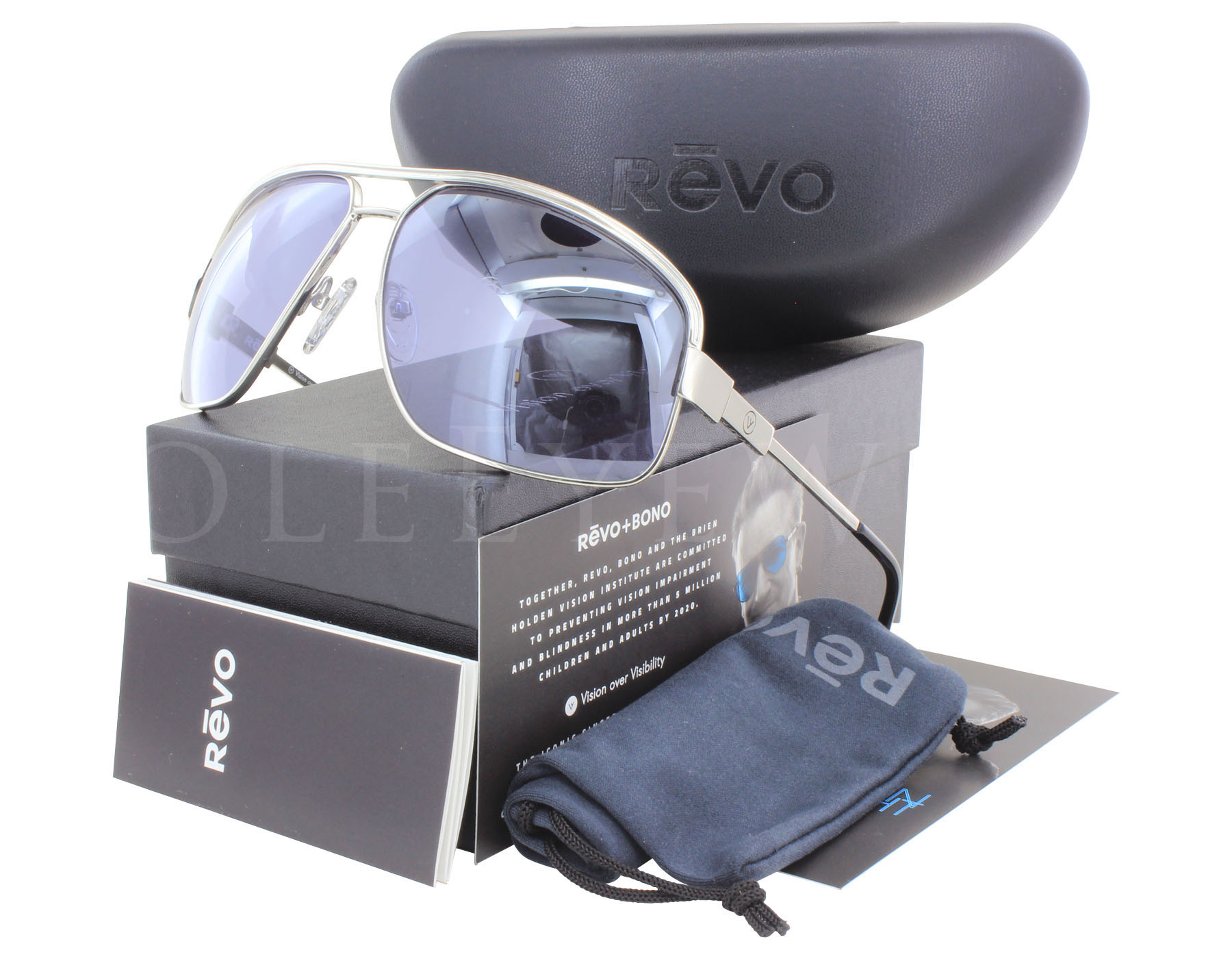 d449bb9eb7 Details about NEW Revo Stargazer RE 1002 03 BLV Silver   Purple Sunglasses