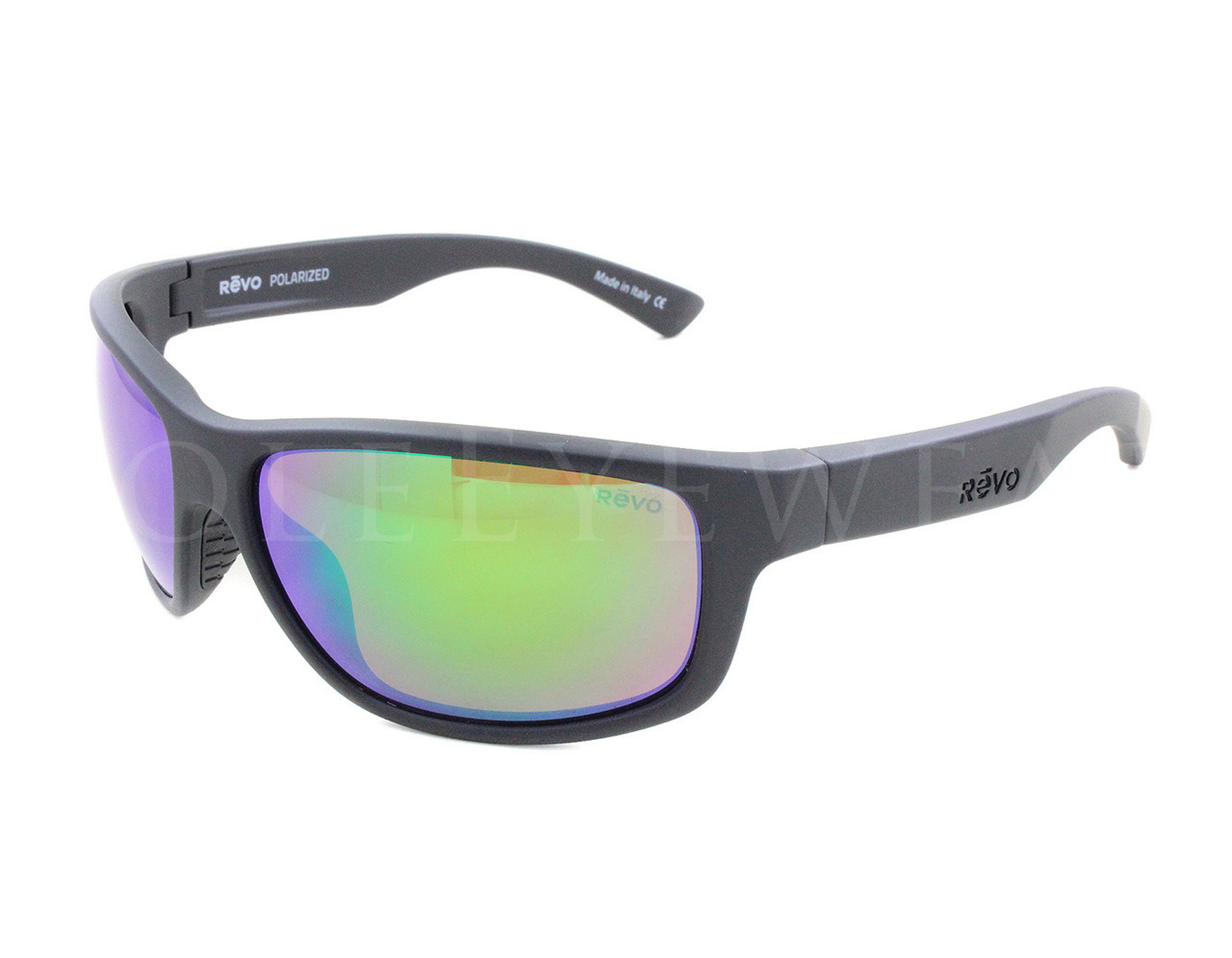 53a571ccb8 Details about NEW Revo 1006-01 GN Baseliner Matte Black Green Water Polarized  61mm Sunglasses