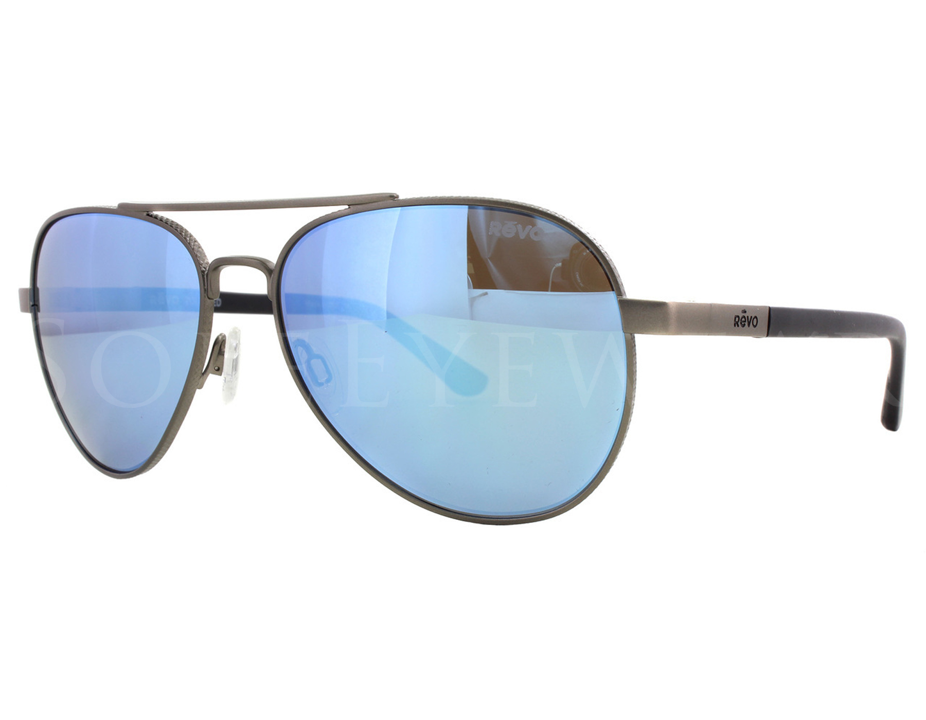 4e94d975883 Details about NEW Revo Raconteur RE 1011 00 BL Gunmetal   Blue Sunglasses