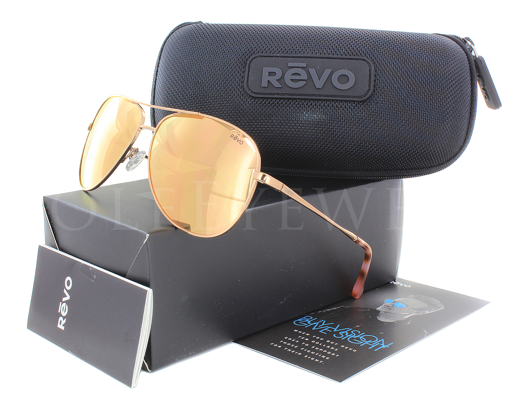 Gold Ch Sunglasses Relay New Revo Champagne 14 Rose 1014 4AL53Rqj