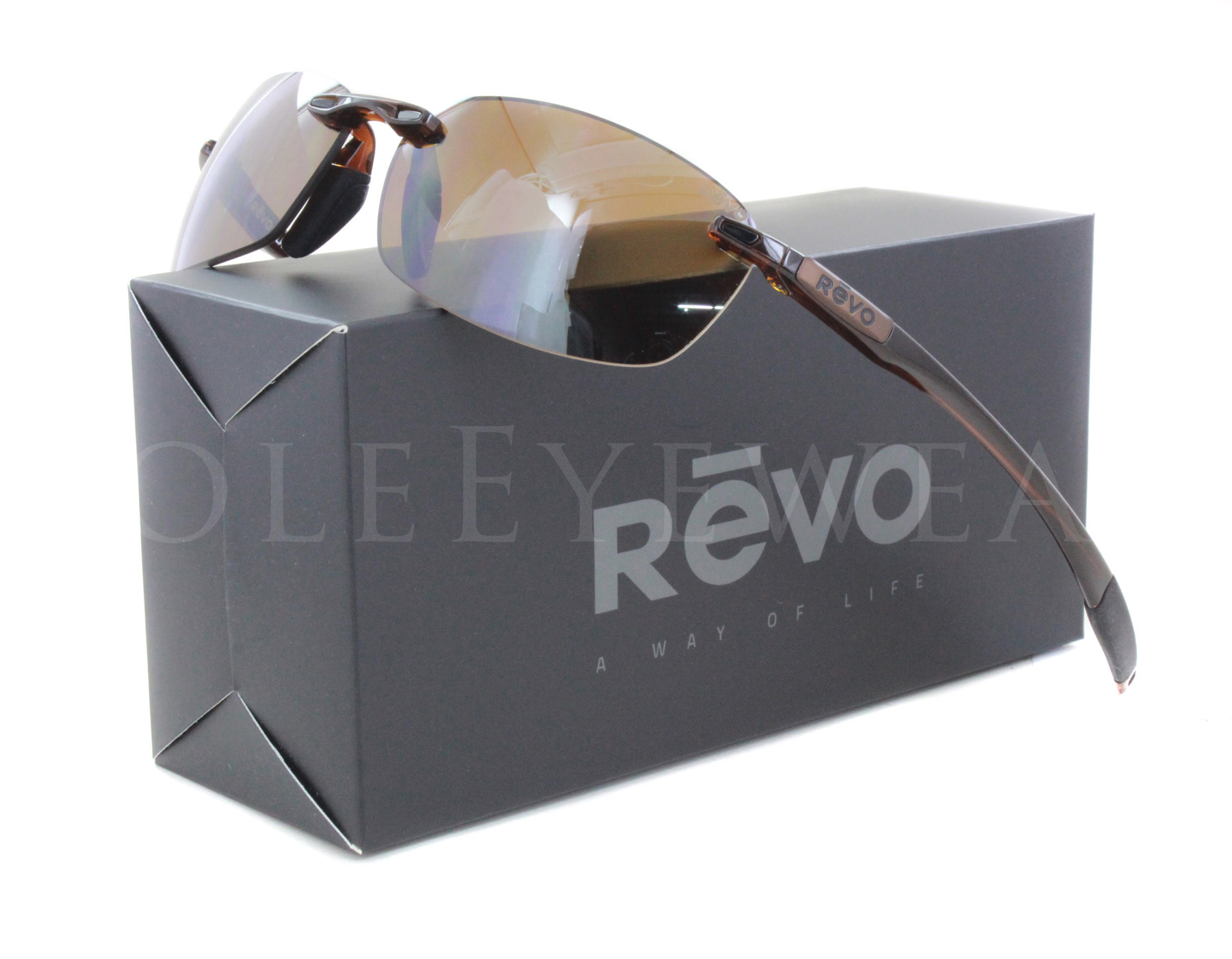9a1fab1df5 NEW Revo Descend E RE 4060 02 BR Crystal Brown   Terra Sunglasses ...