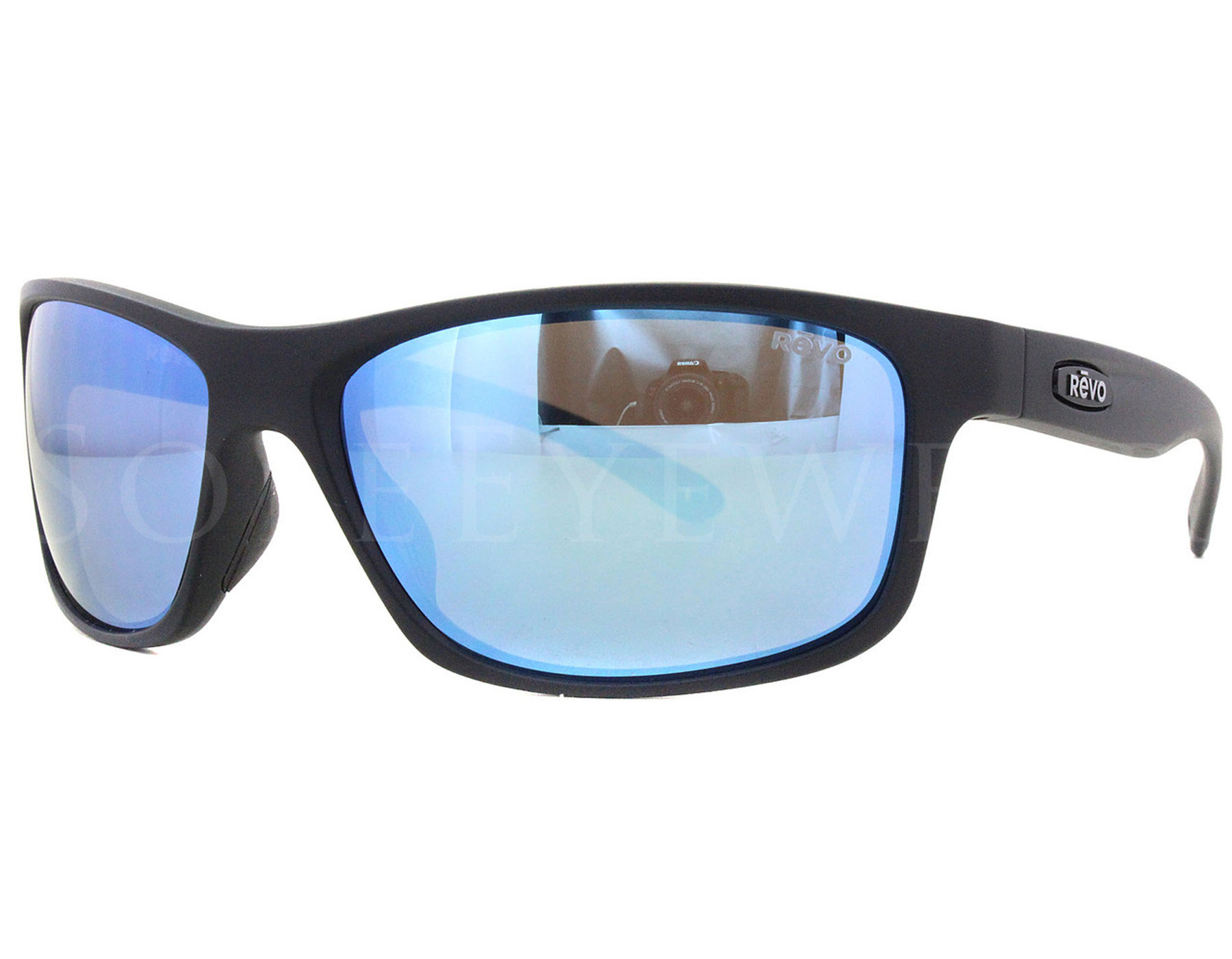 94329bdc0dc Details about NEW Revo Harness RE 4071 11 BL Matte Black   Blue Sunglasses