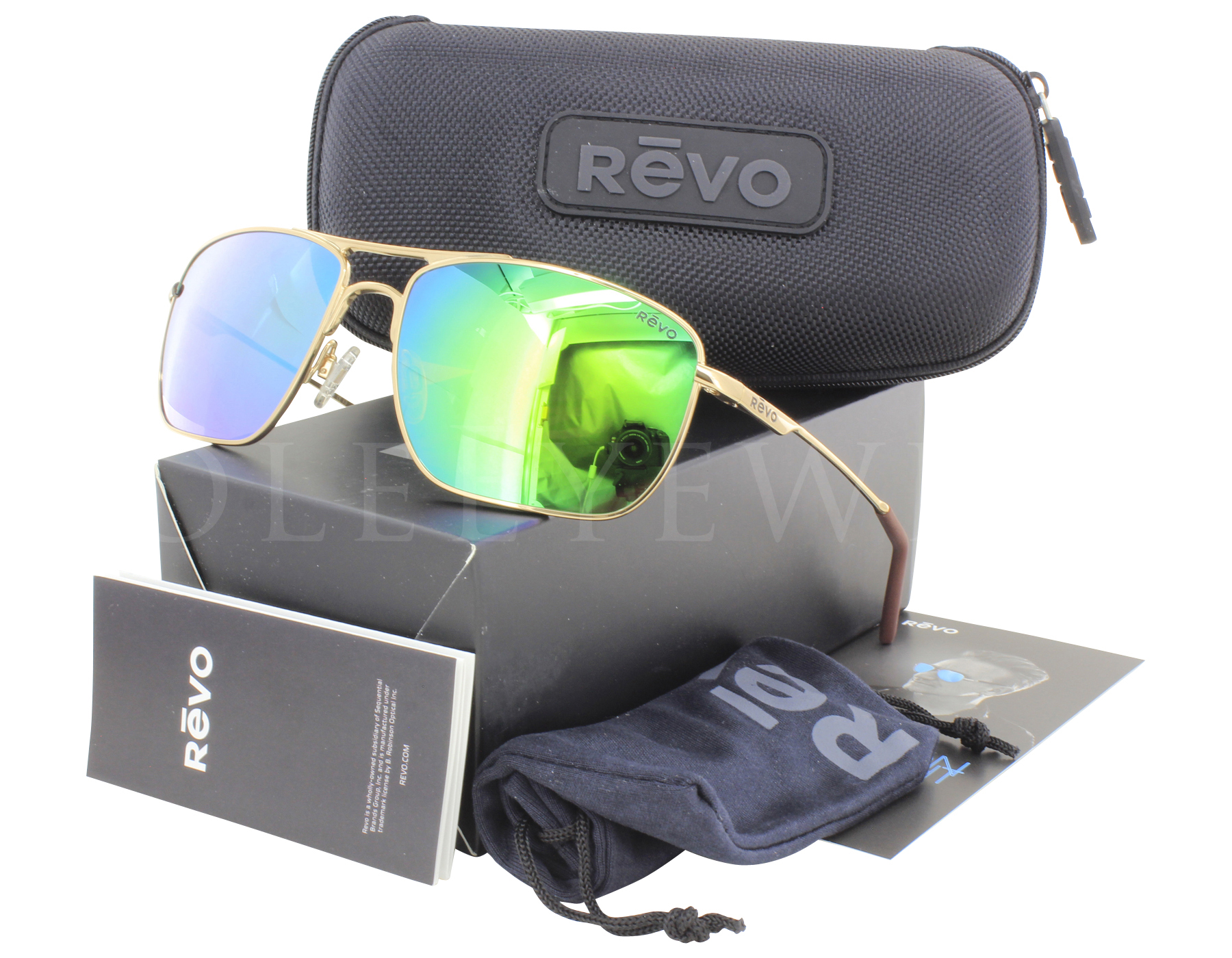 09b9ca0ef8 Details about NEW Revo Groundspeed RE 3089 02 GN Gold   Green Water  Sunglasses