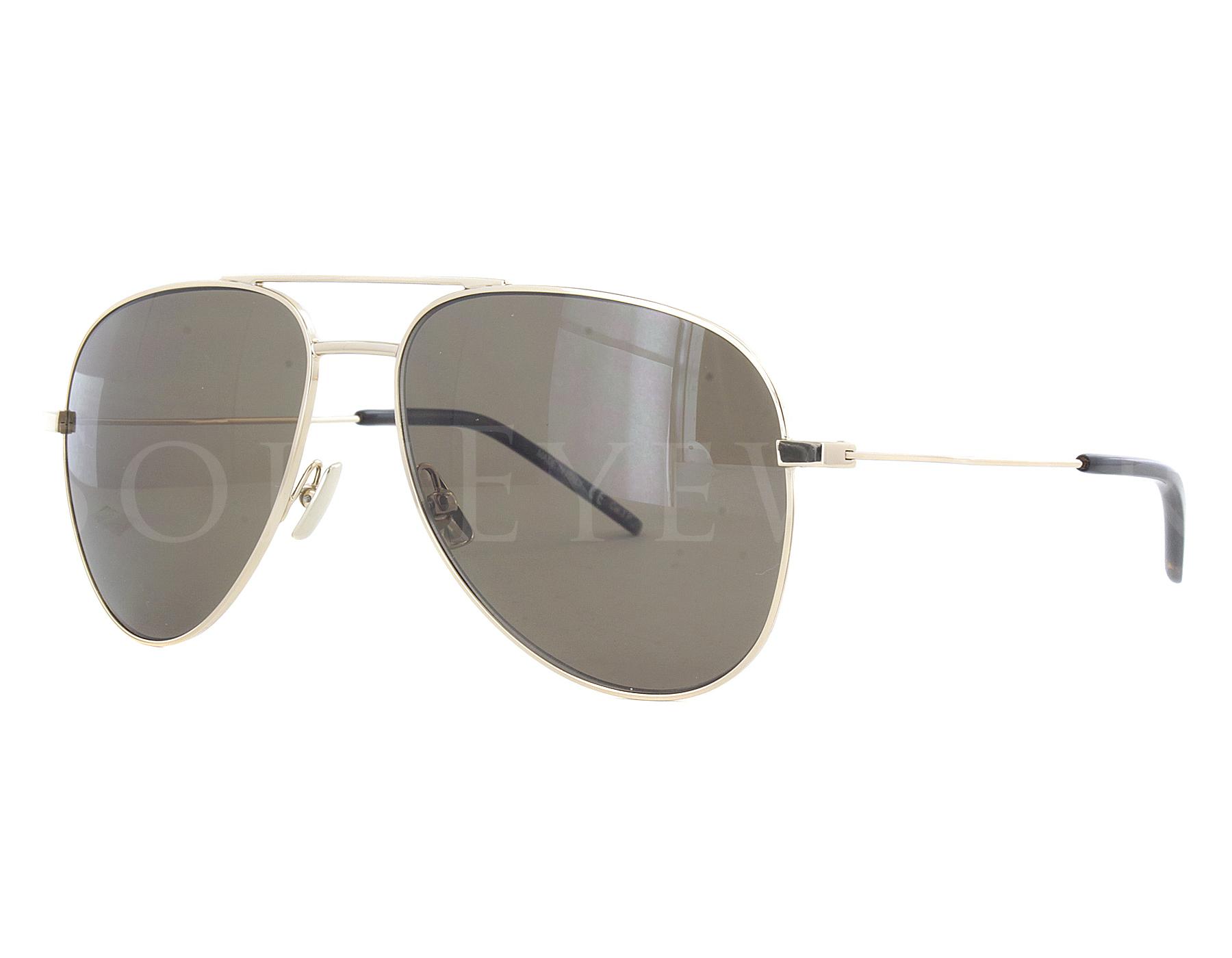 e7b565c7d1ce3 Details about NEW Yves Saint Laurent CLASSIC 11 014 55mm Gold   Brown  Sunglasses