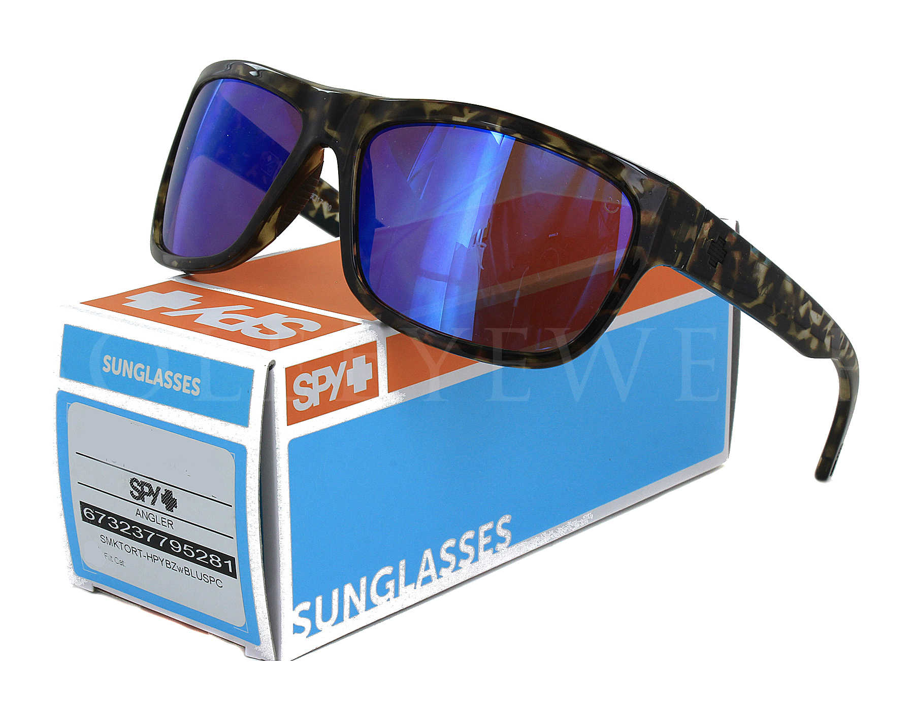 ff01f092f49 Details about NEW SPY OPTICS Angler Smoke Tort   Happy Blue Spectra  673237795281 Sunglasses