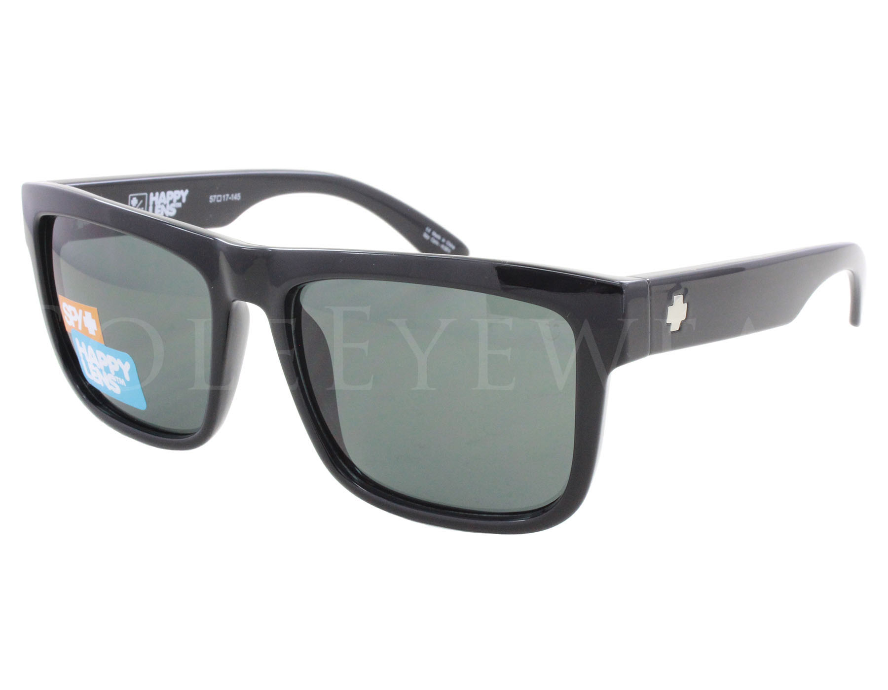 89f453825e Details about NEW Spy Optics Discord Black   Happy Grey Green 673119038863  Sunglasses