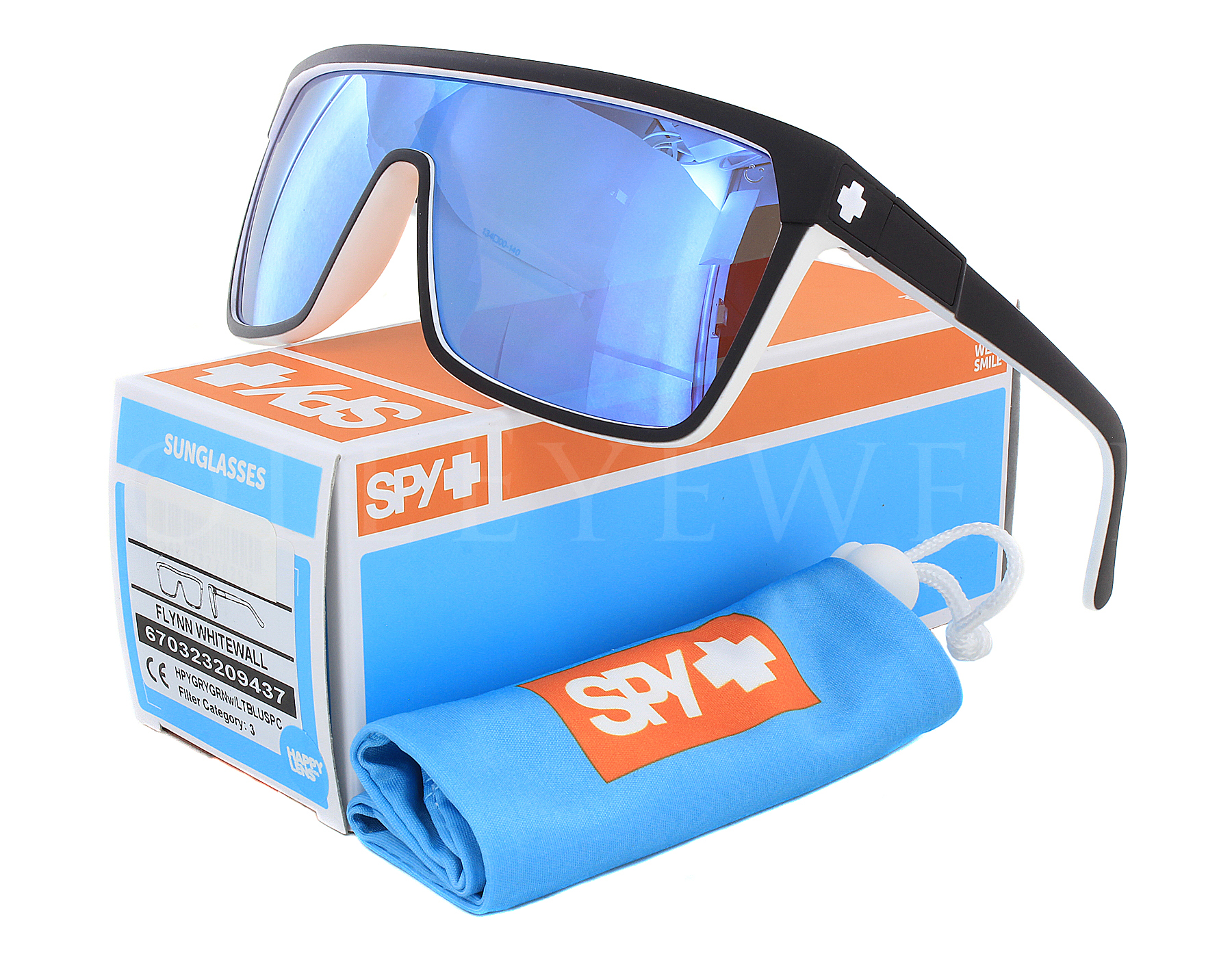 029aad0515 Details about NEW Spy Optics Flynn 670323209437 Whitewall   Light Blue  Spectra Sunglasses