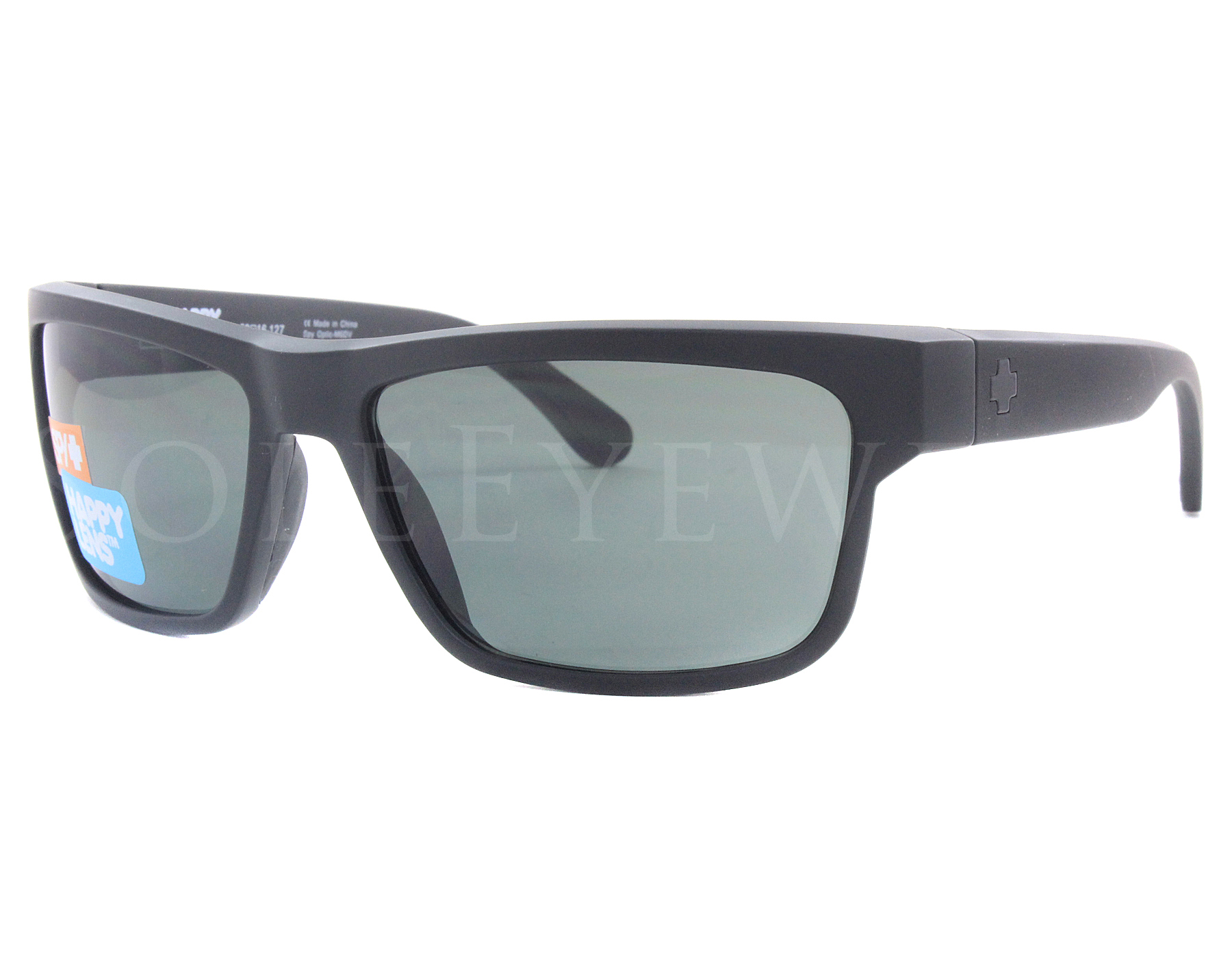 8190b53e49e1b Details about NEW Spy Optics Frazier 673176374863 Matte Black   Happy Gray  Green Sunglasses