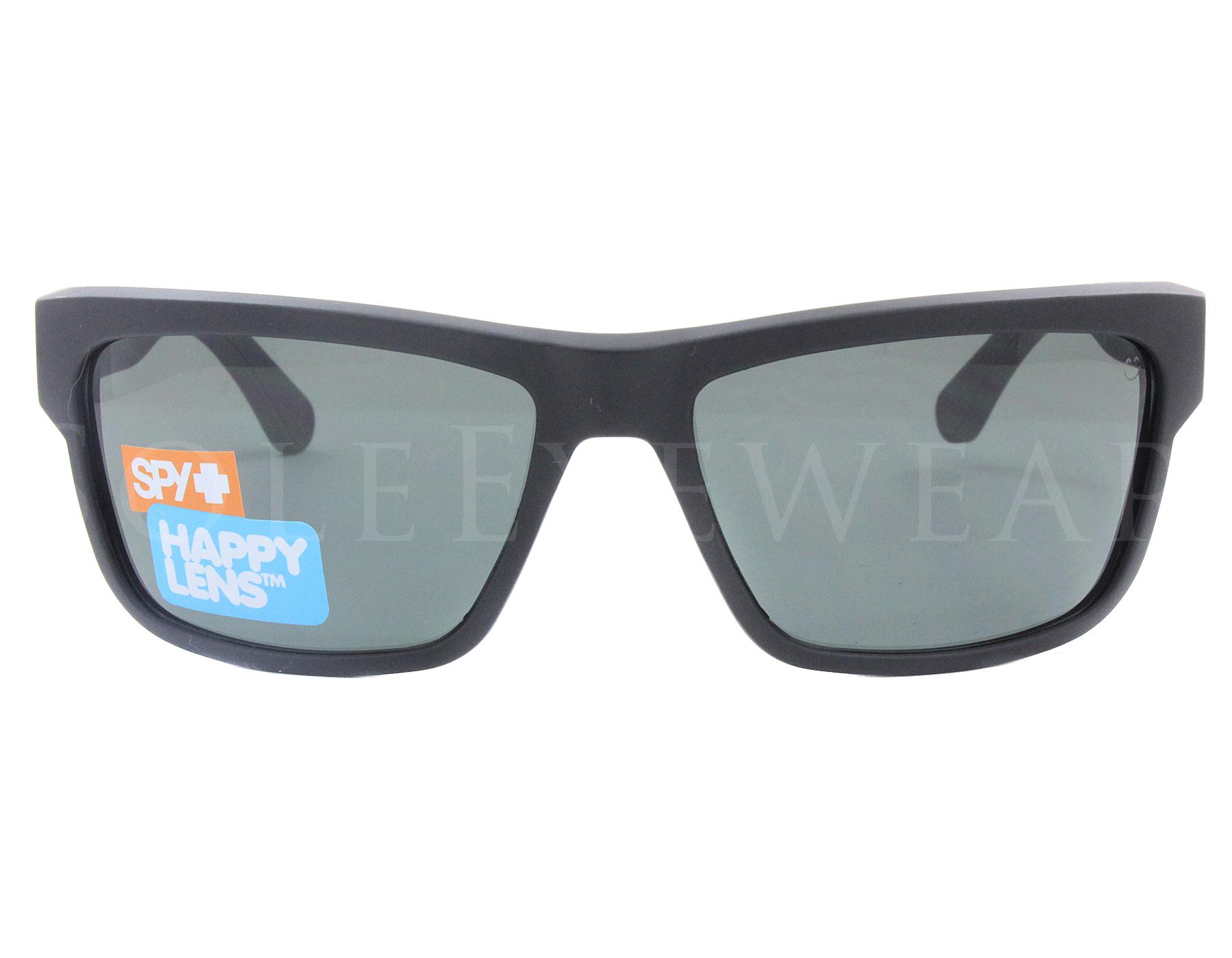 d5df8481c29 NEW Spy Optics Frazier 673176374863 Matte Black   Happy Gray Green ...