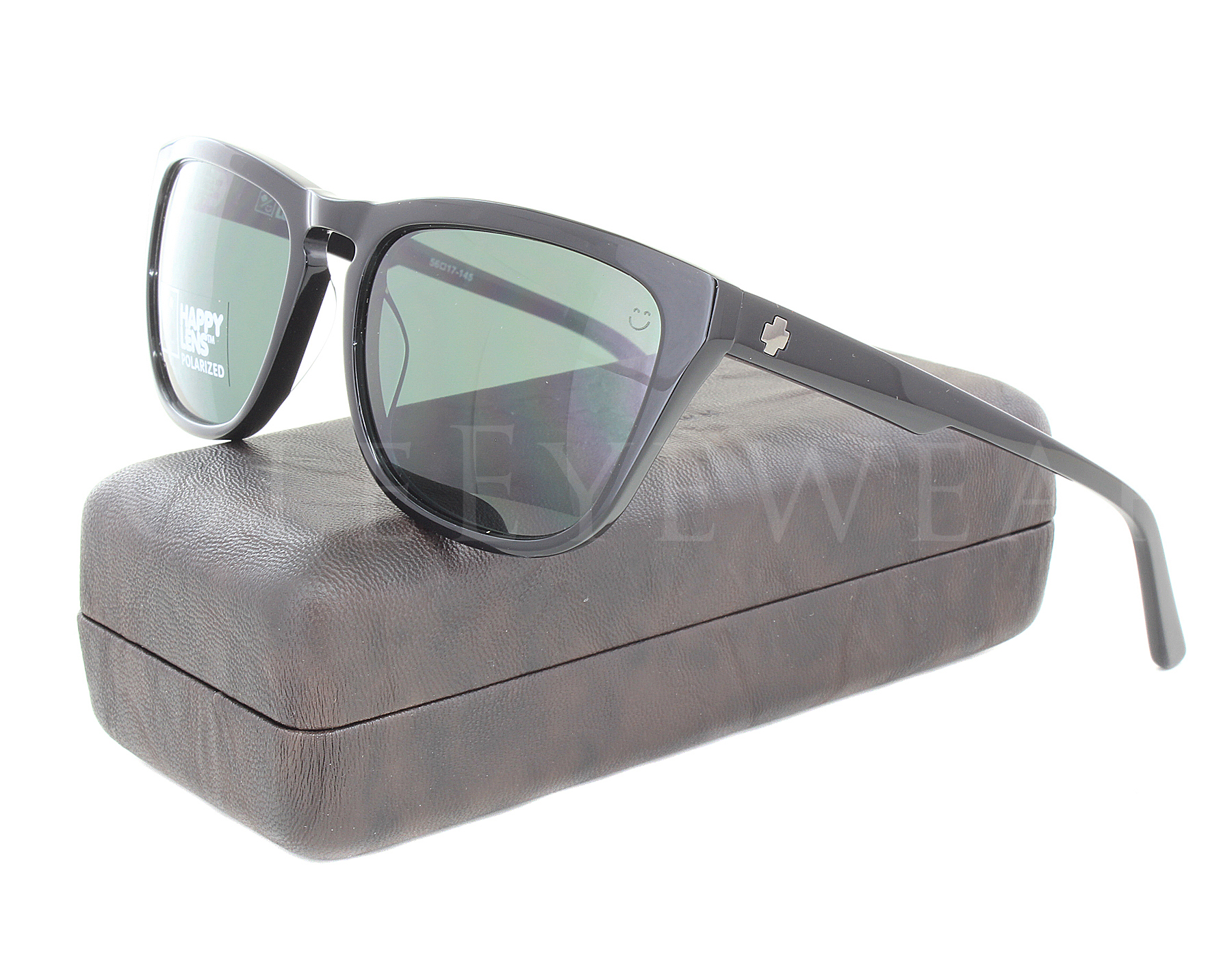 1535c8cfd68 Details about NEW Spy Optics Hayes 673438038864 Black   Happy Gray Green  Polarized Sunglasses