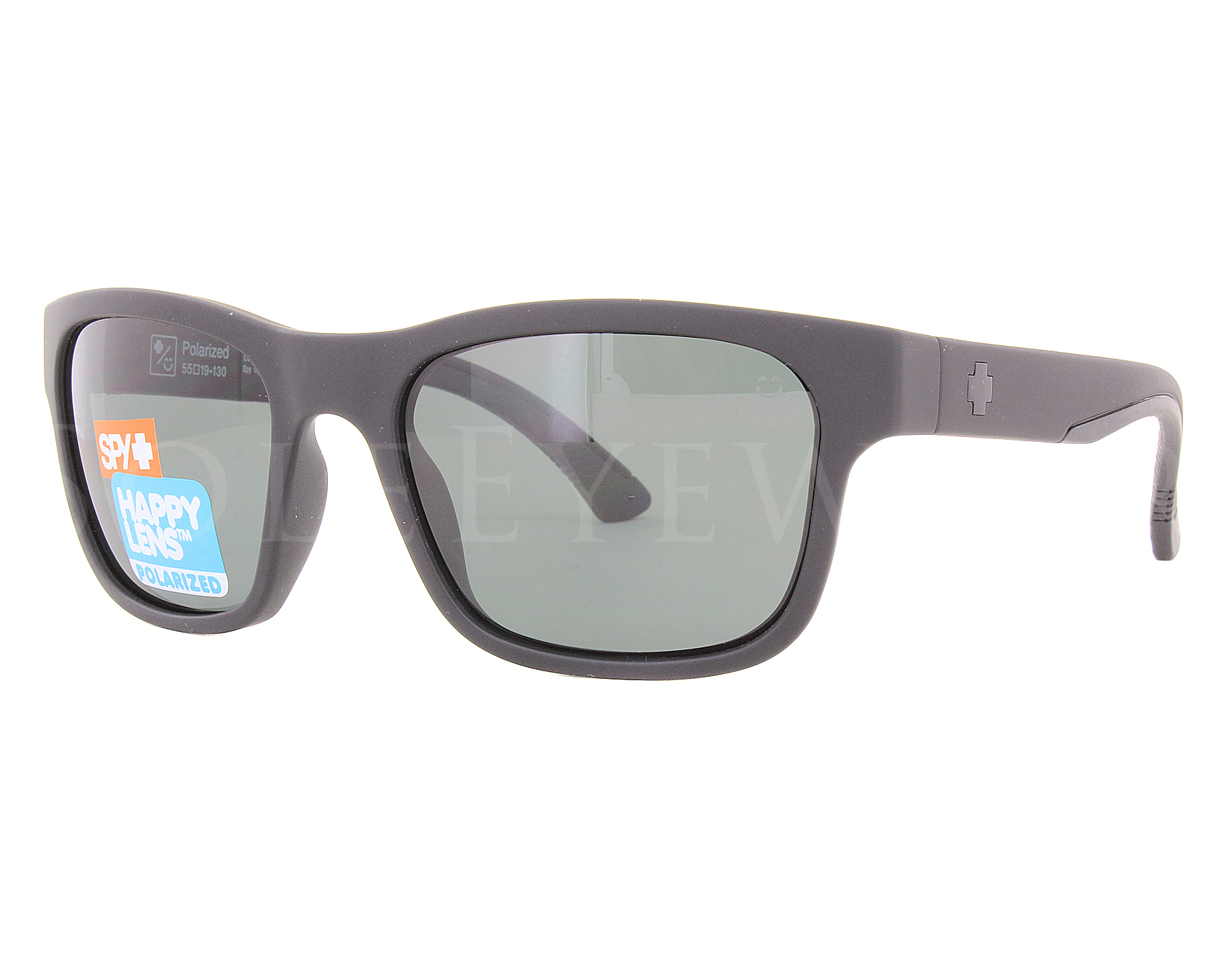 4166e1dbce Details about NEW Spy Optics Hunt Matte Black   Happy Gray Green Polar  673469374864 Sunglasses