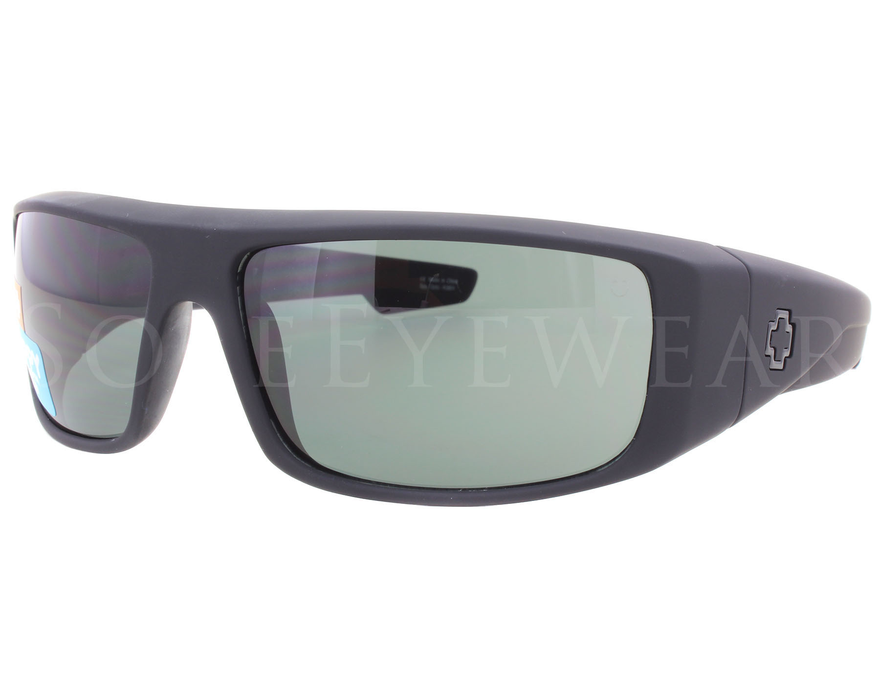 5887c3a07e Details about NEW Spy Optics Logan 670939973863 Soft Matte Black   Happy  Grey Green Sunglasses