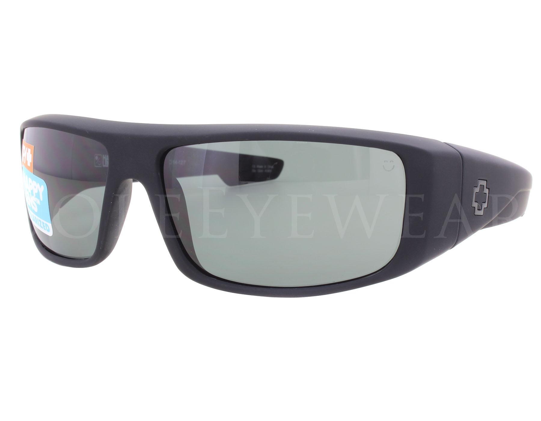 cc7c1134d7 NEW Spy Optics Logan 670939973864 Soft Matte Black  Happy Green ...