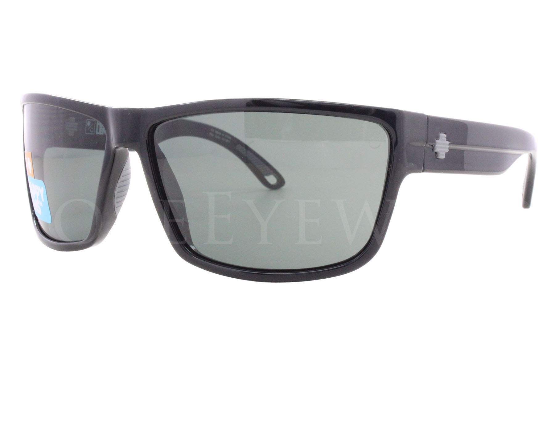 b3f9c5e121 Details about NEW Spy Optics Rocky 673248038863 Black   Happy Grey Green  Sunglasses