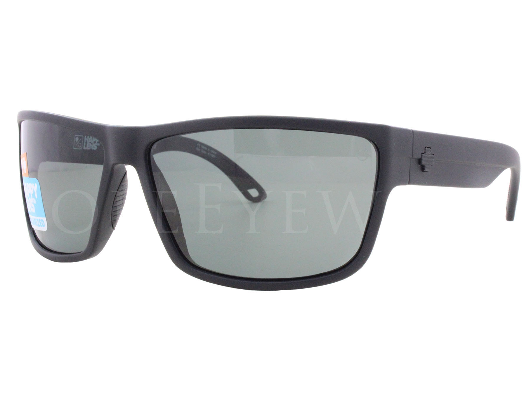 a2199518e4 Details about NEW Spy Optics Rocky 673248374864 Matte Black  Happy Gray  Green Polar Sunglasses