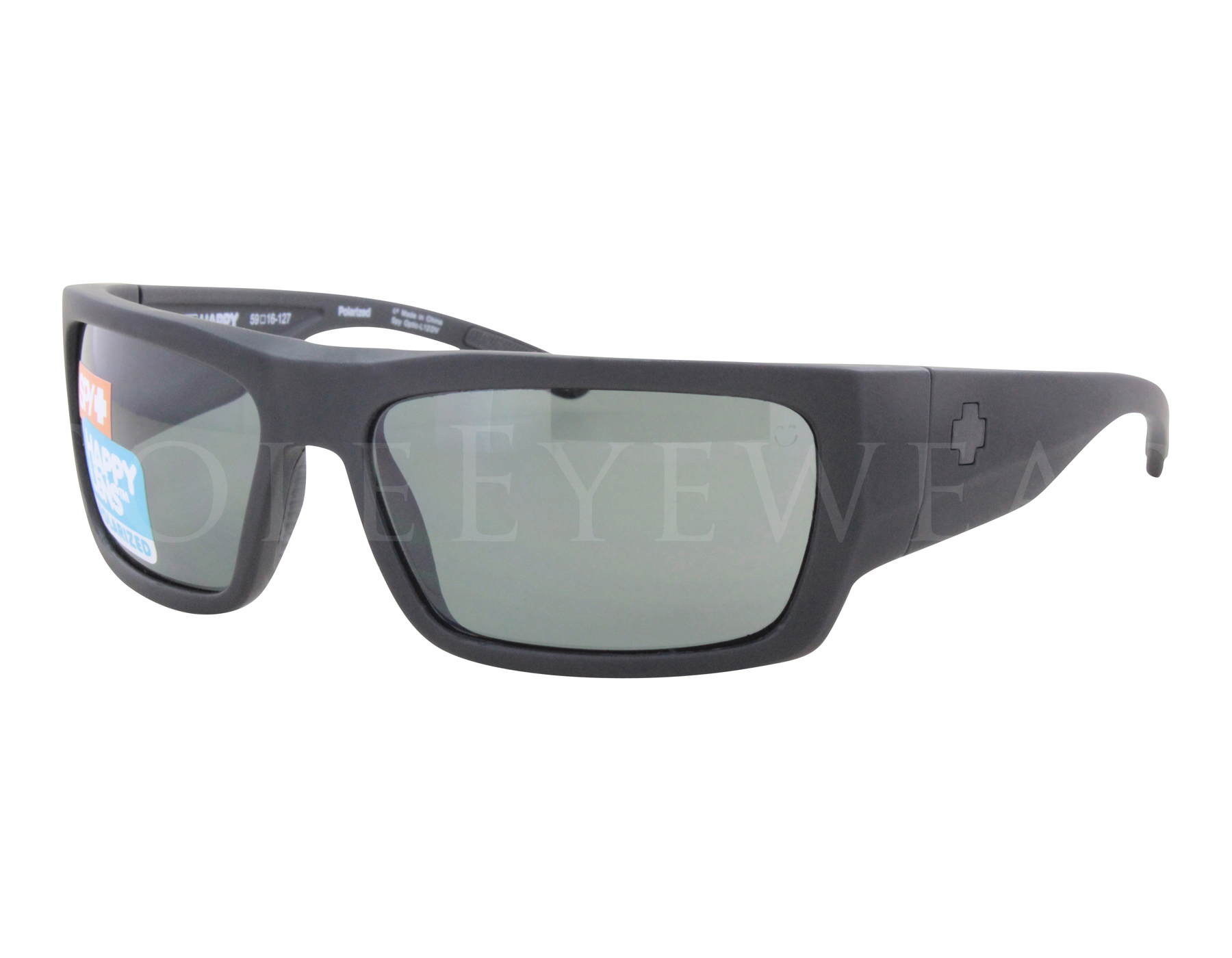 707860bfe13 Details about NEW Spy Optics Rover 673372973864 Soft Matte Black   Happy  Grey Polar Sunglasses