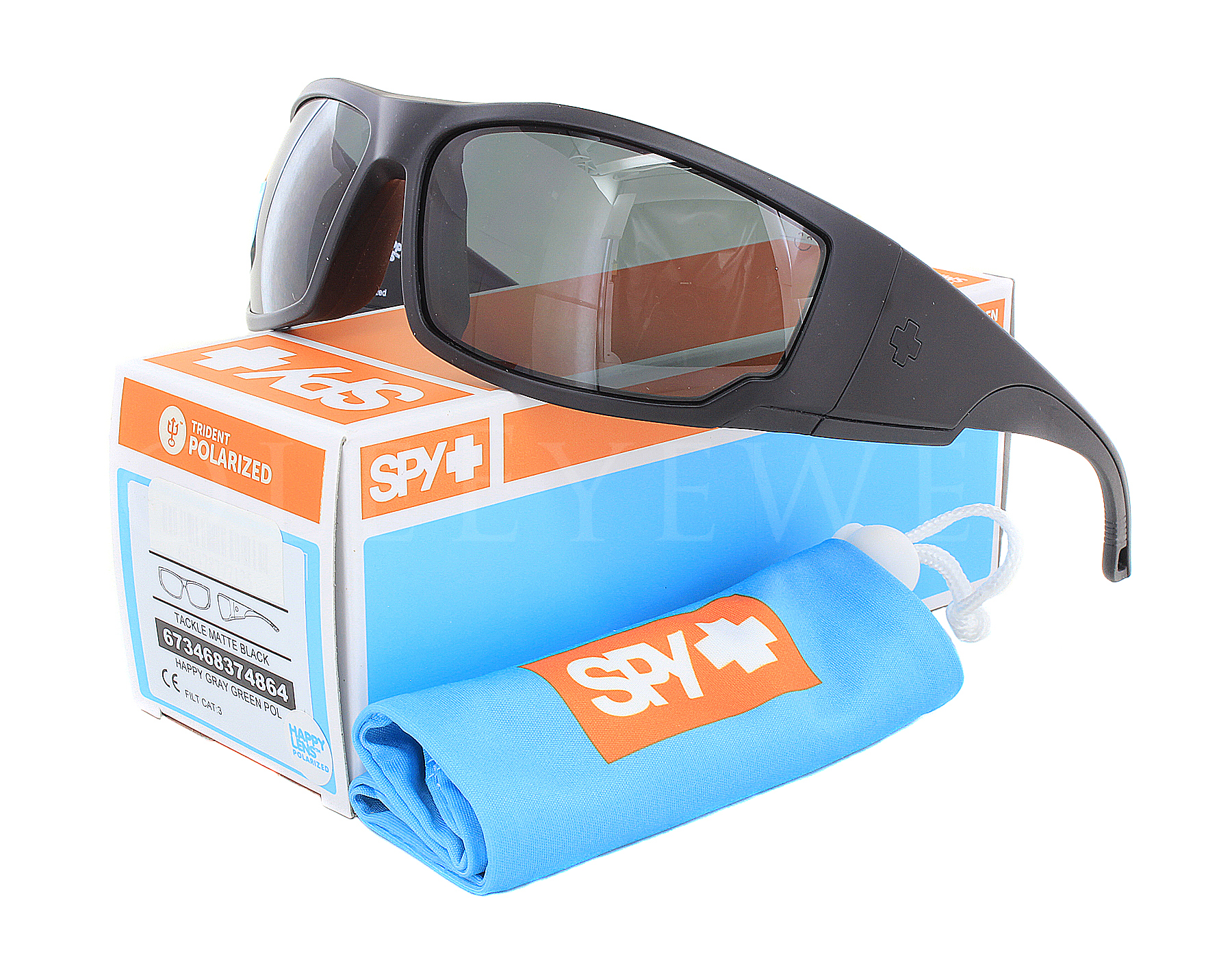 6e8bf6933a Details about NEW Spy Optics Tackle Matte Black   Happy Gray Green  673468374864 Sunglasses