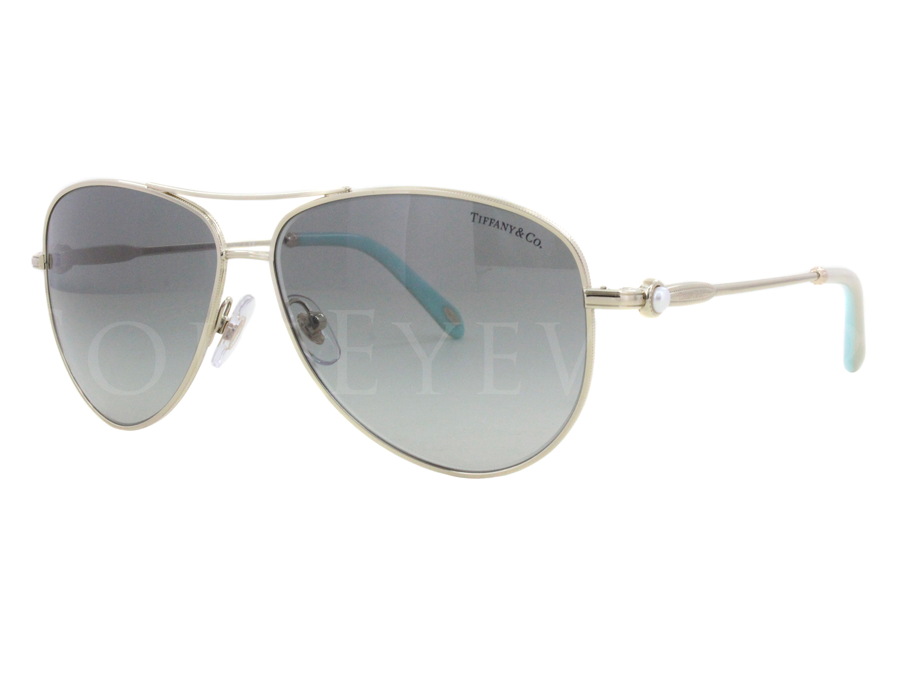 678cf4453 Details about NEW Tiffany & Co. TF 3043H 6087 3C 58 Matte Gold Grey Shaded  Sunglasses