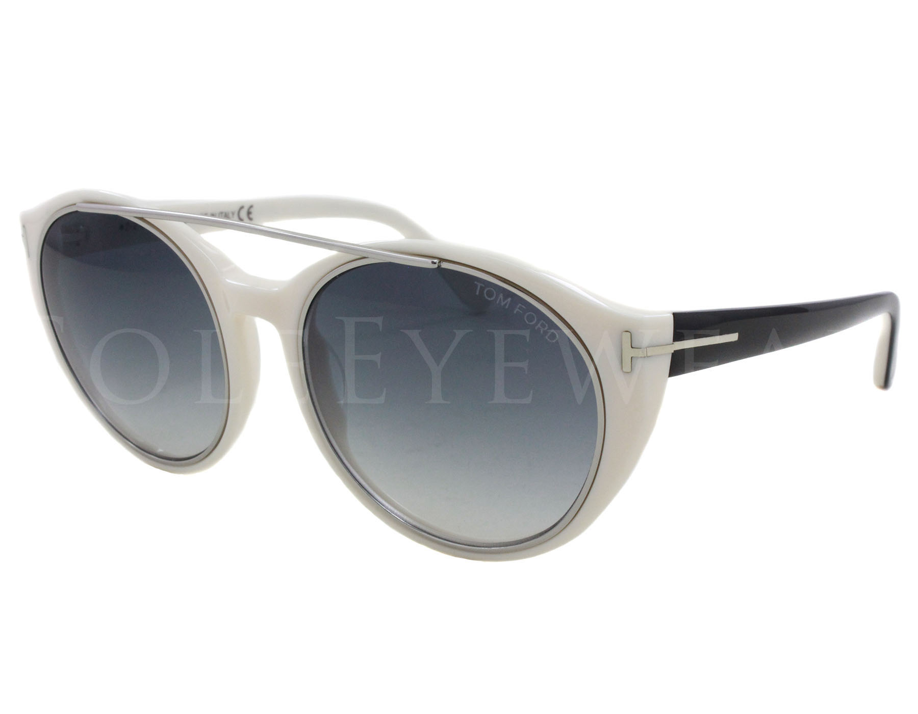 c33c97f26e Details about NEW Tom Ford FT0383-25B TF 383 Joan White Black   Grey  Sunglasses (NO CASE)