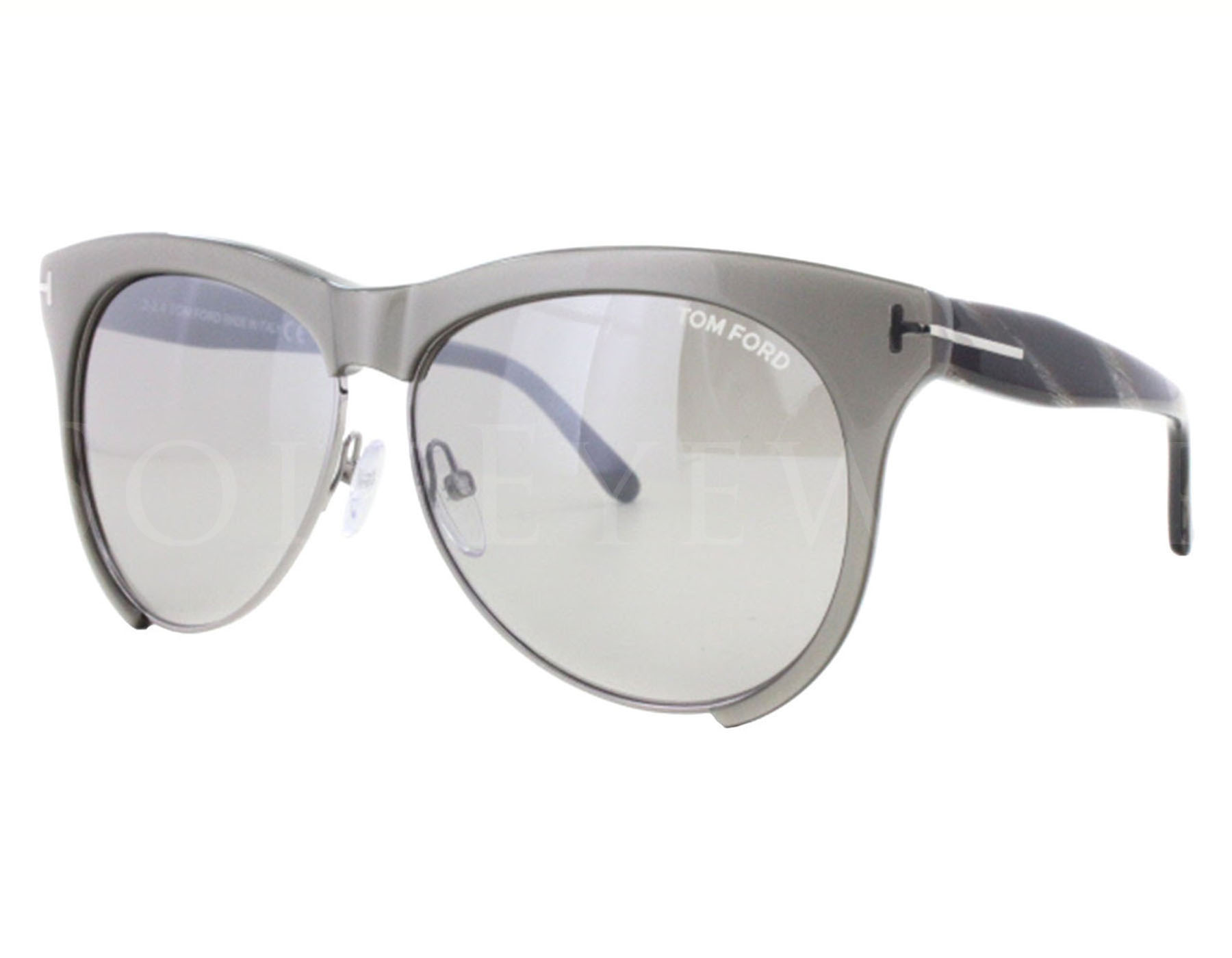 6f6385c579 Details about NEW Tom Ford FT0365-38G TF 365 Leona Shiny Grey Grey Mirror  Sunglasses (NO CASE)