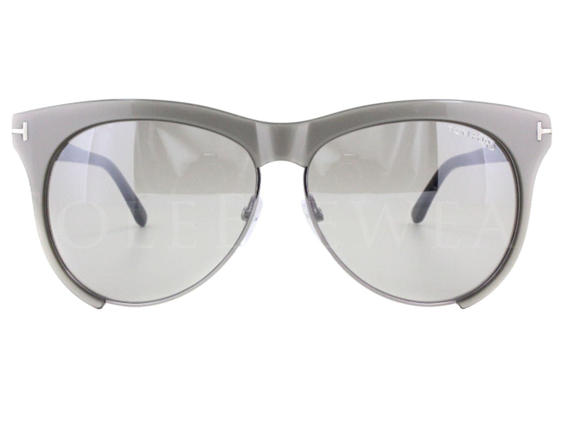 ce9a2de499 NEW Tom Ford FT0365-38G TF 365 Leona Shiny Grey Grey Mirror ...