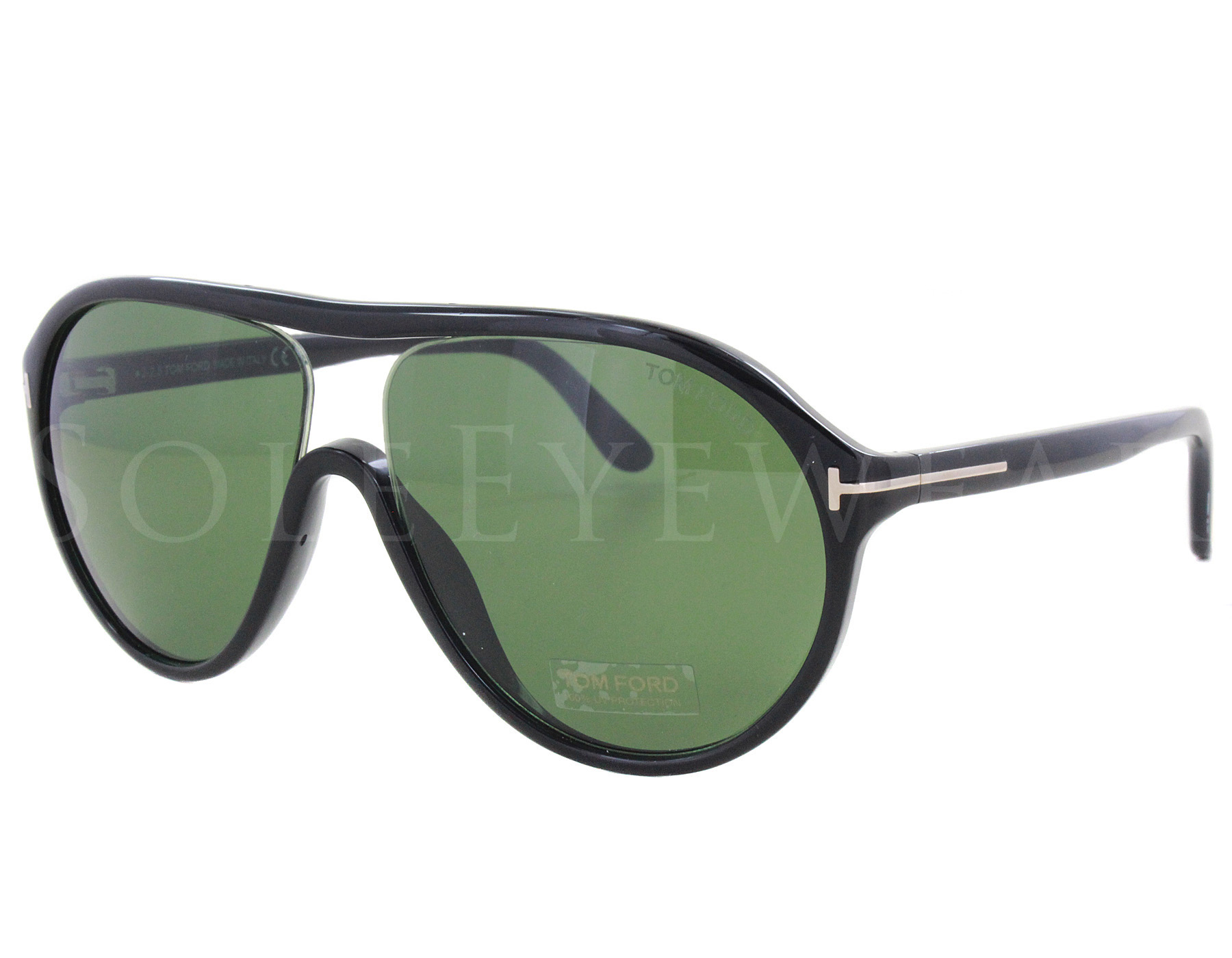 8fcc89b1c68 Details about NEW Tom Ford FT0443-01N TF 443 Edison Shiny Black   Green  Sunglasses (NO CASE)