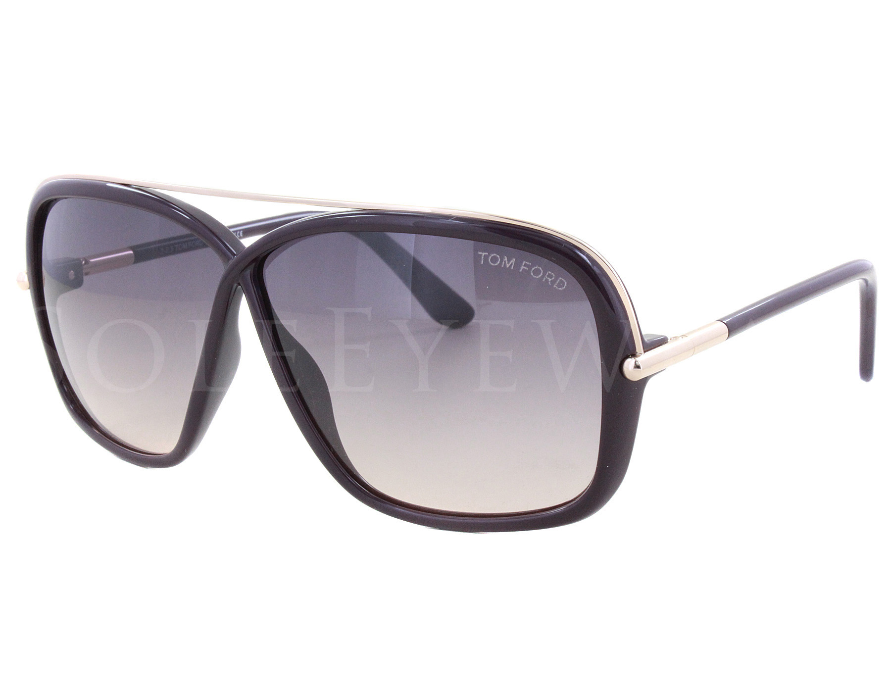 7bb729284c8 Details about NEW Tom Ford FT0455-81Z TF 455 Brenda Shiny Violet Gold   Violet  Sunglasses (NO