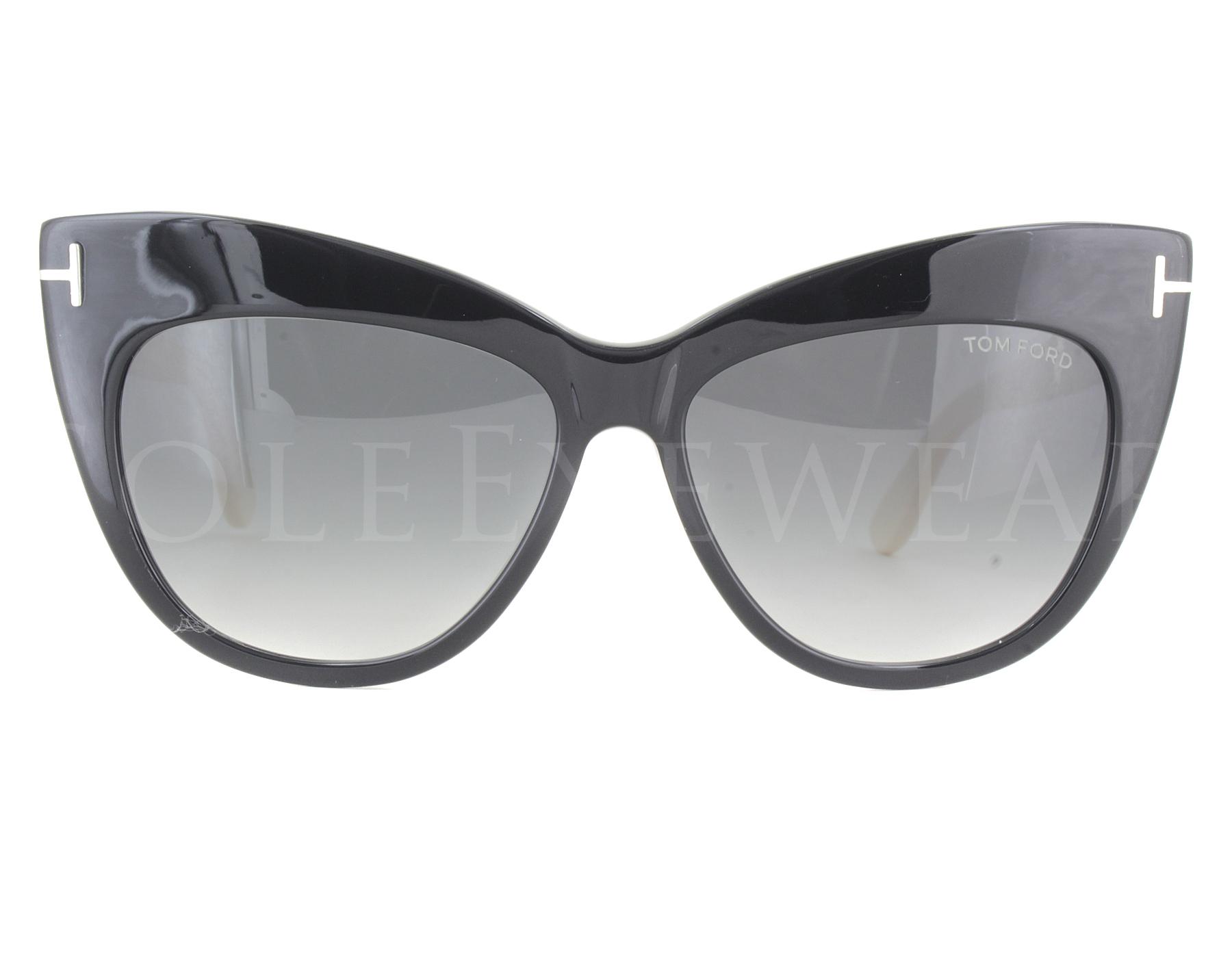 cf0b92ea374c NEW Tom Ford FT0523 01B Nika Shiny Black   Grey Gradient Sunglasses ...