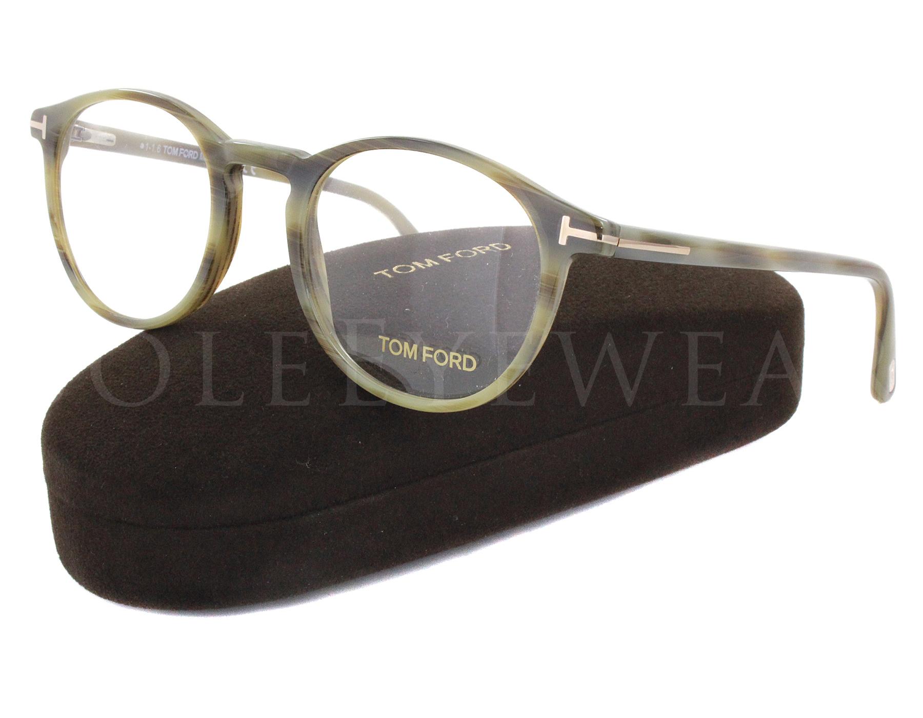 0712d4194f Details about NEW Tom Ford FT5294 0064 48mm Green Horn Optical Eyeglasses  Frames